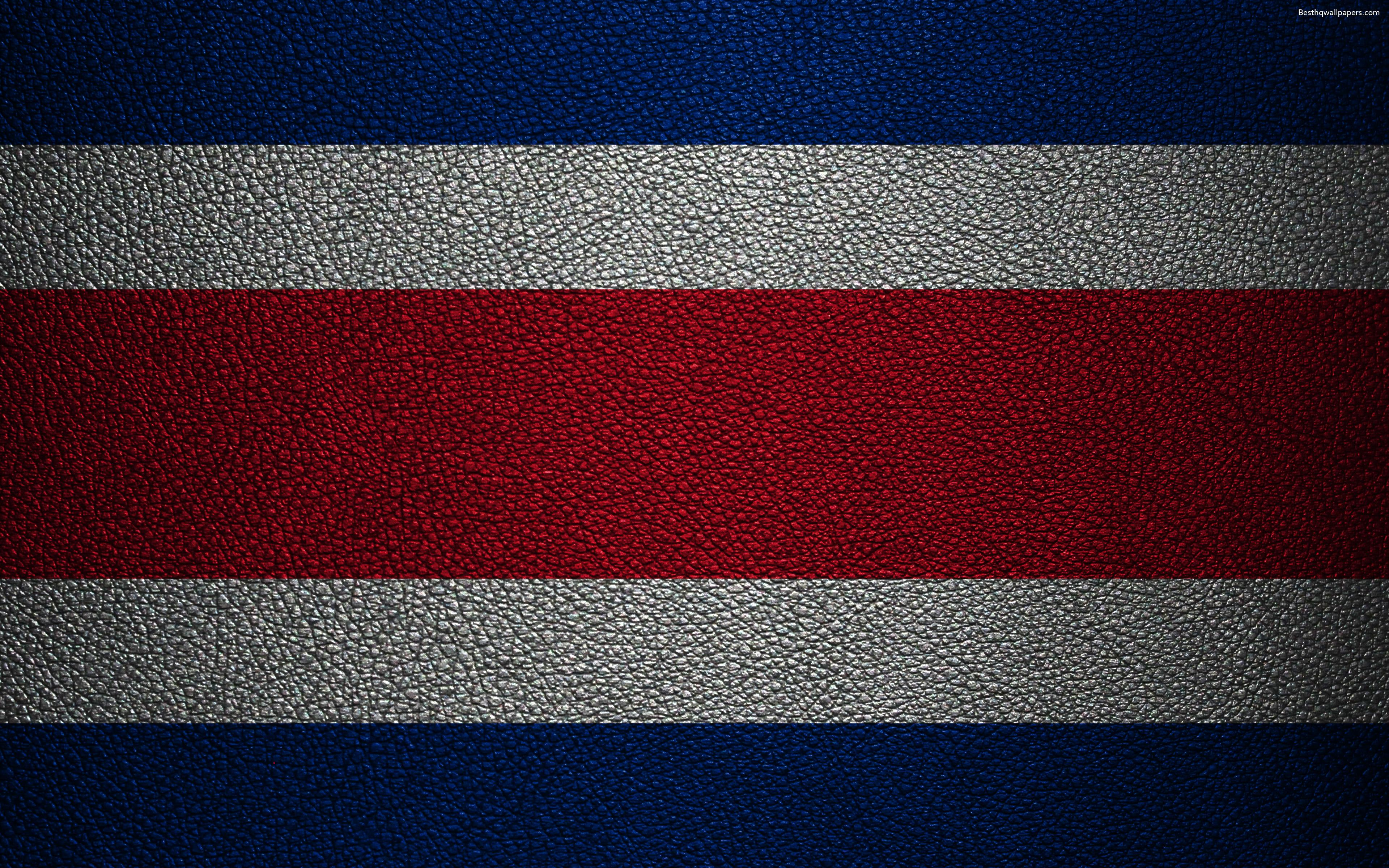 Download wallpapers Flag of Costa Rica, 4k, leather texture, North ...