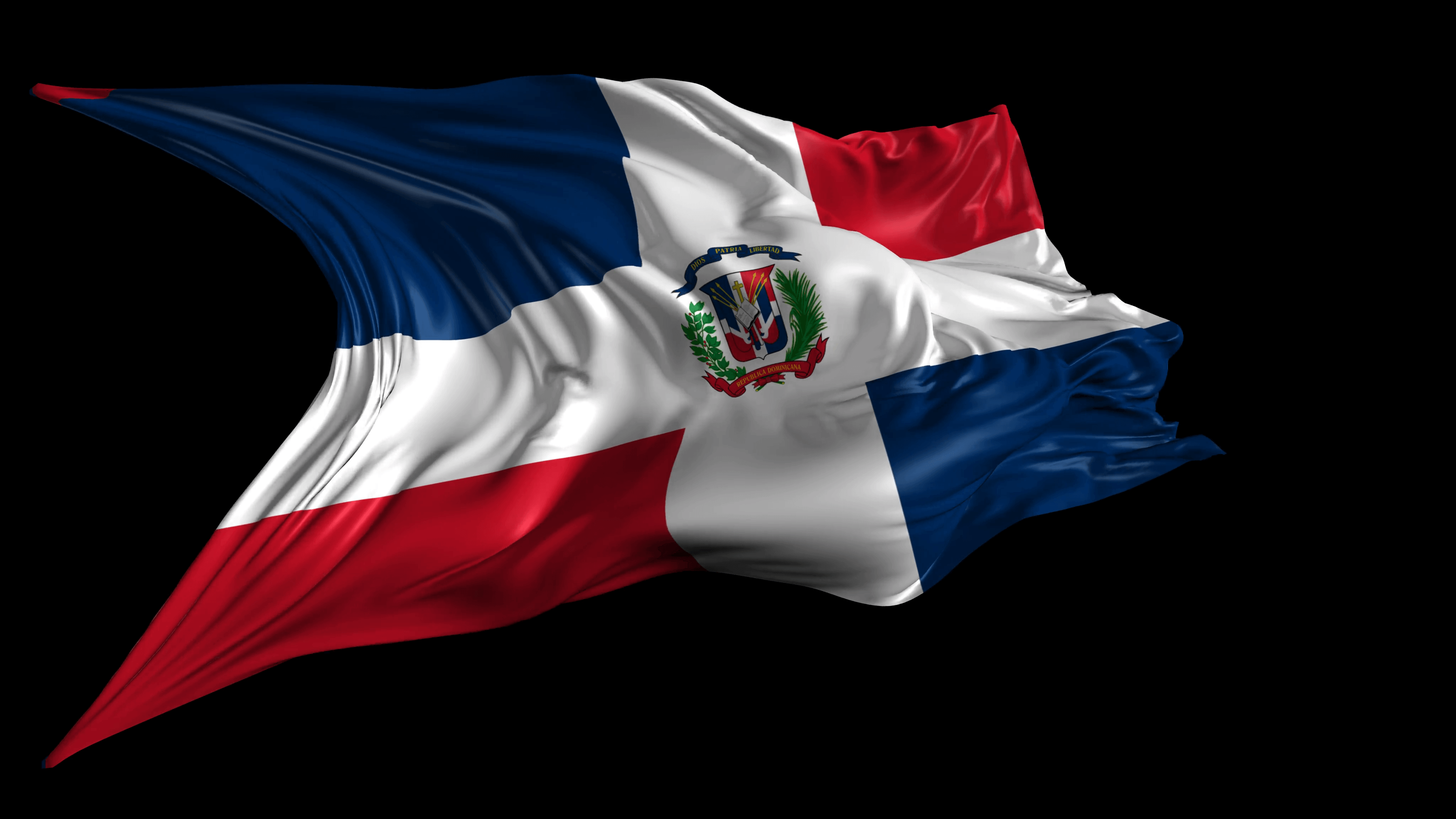 Wallpaper Dominican Republic Flag ✓ Gadget and PC Wallpaper