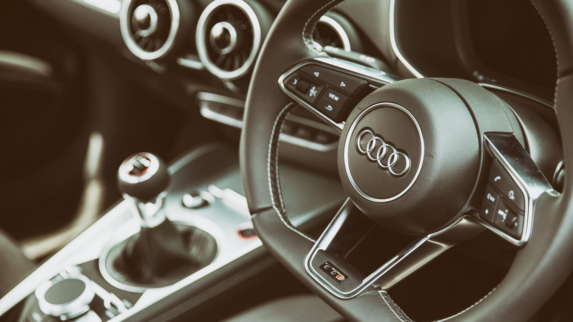 Audi TTS Steering Wheel Interior Wallpapers