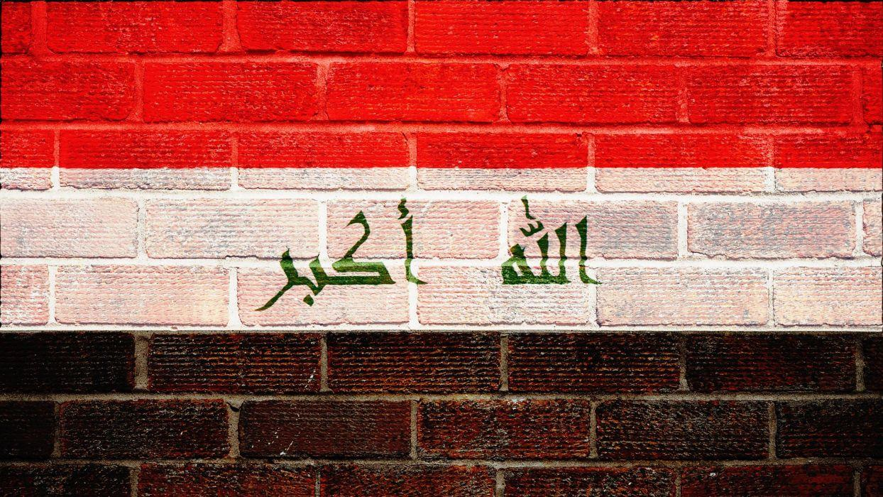 Iraqi iraq iraqian flag glags arabic wall walls textures bricks