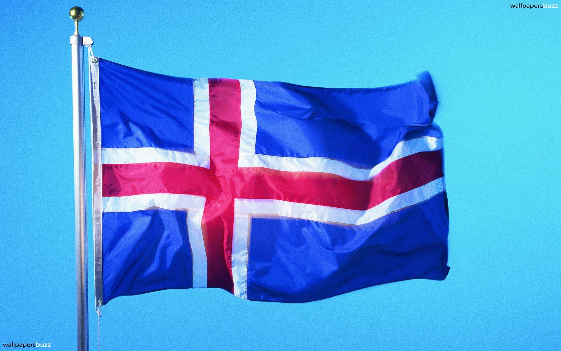 The flag of Iceland HD Wallpapers