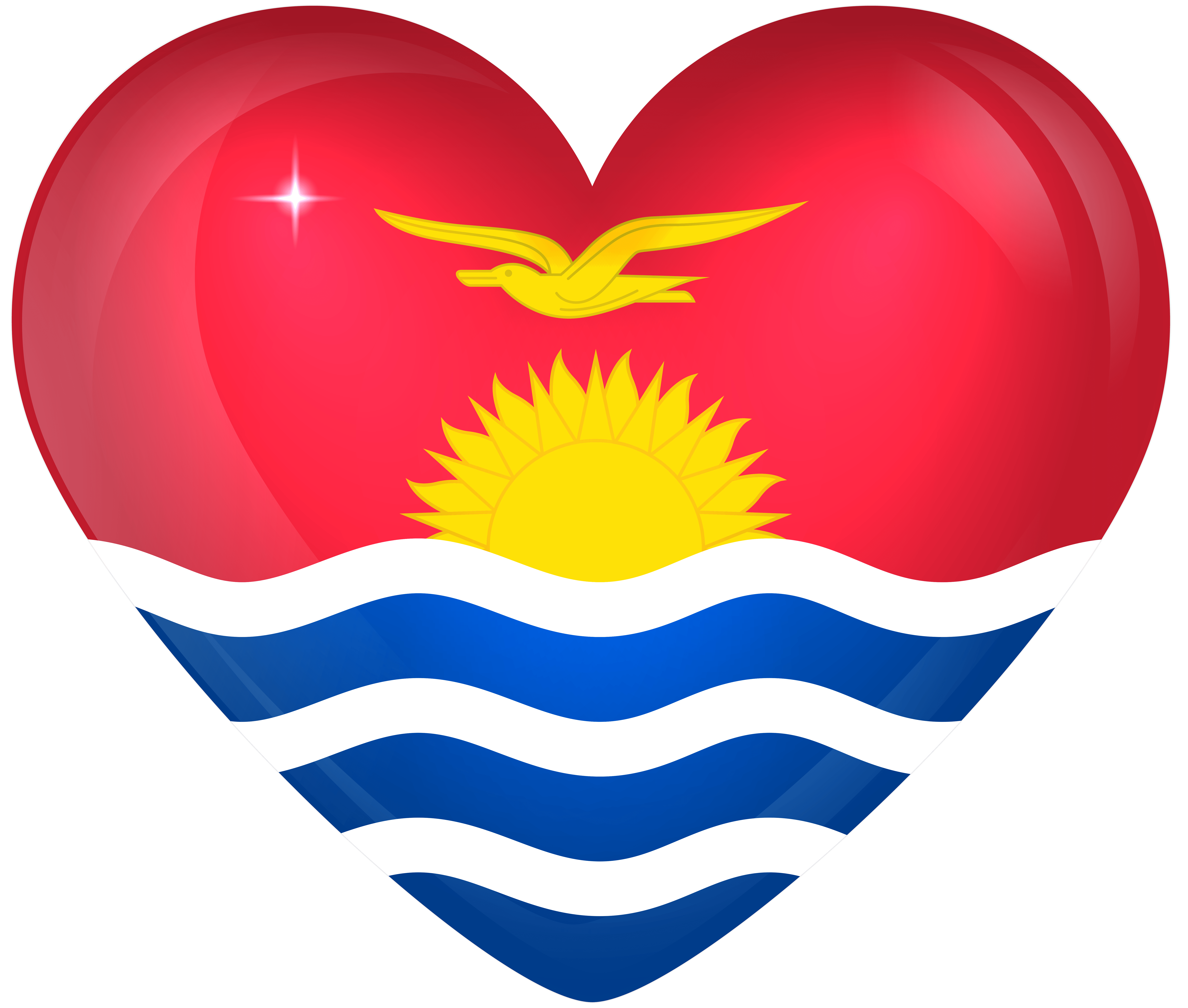 Kiribati Large Heart Flag