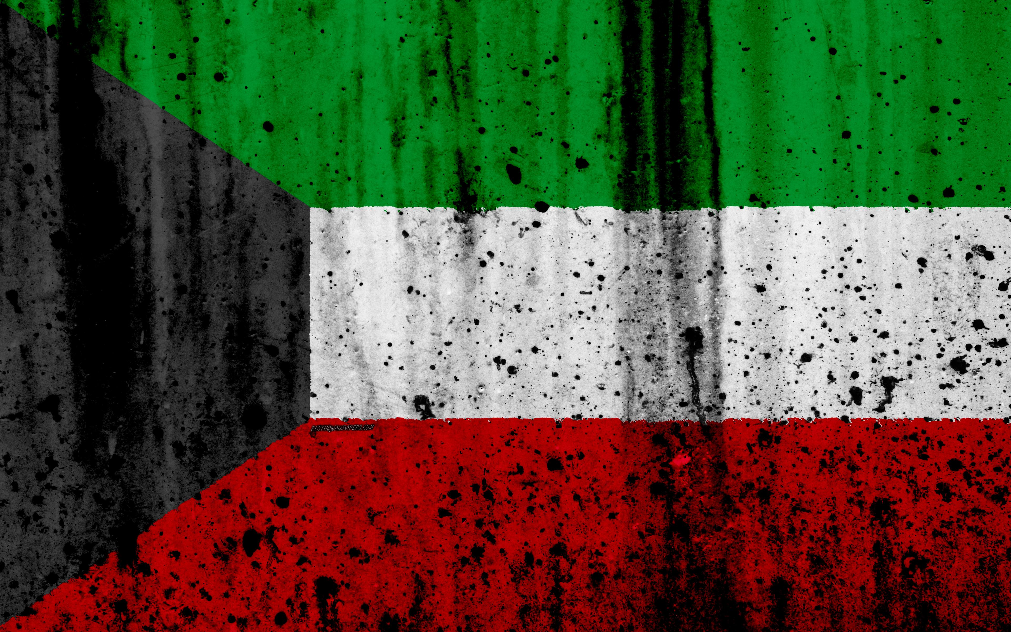 Download wallpapers Kuwait flag, 4k, grunge, flag of Kuwait, Asia ...