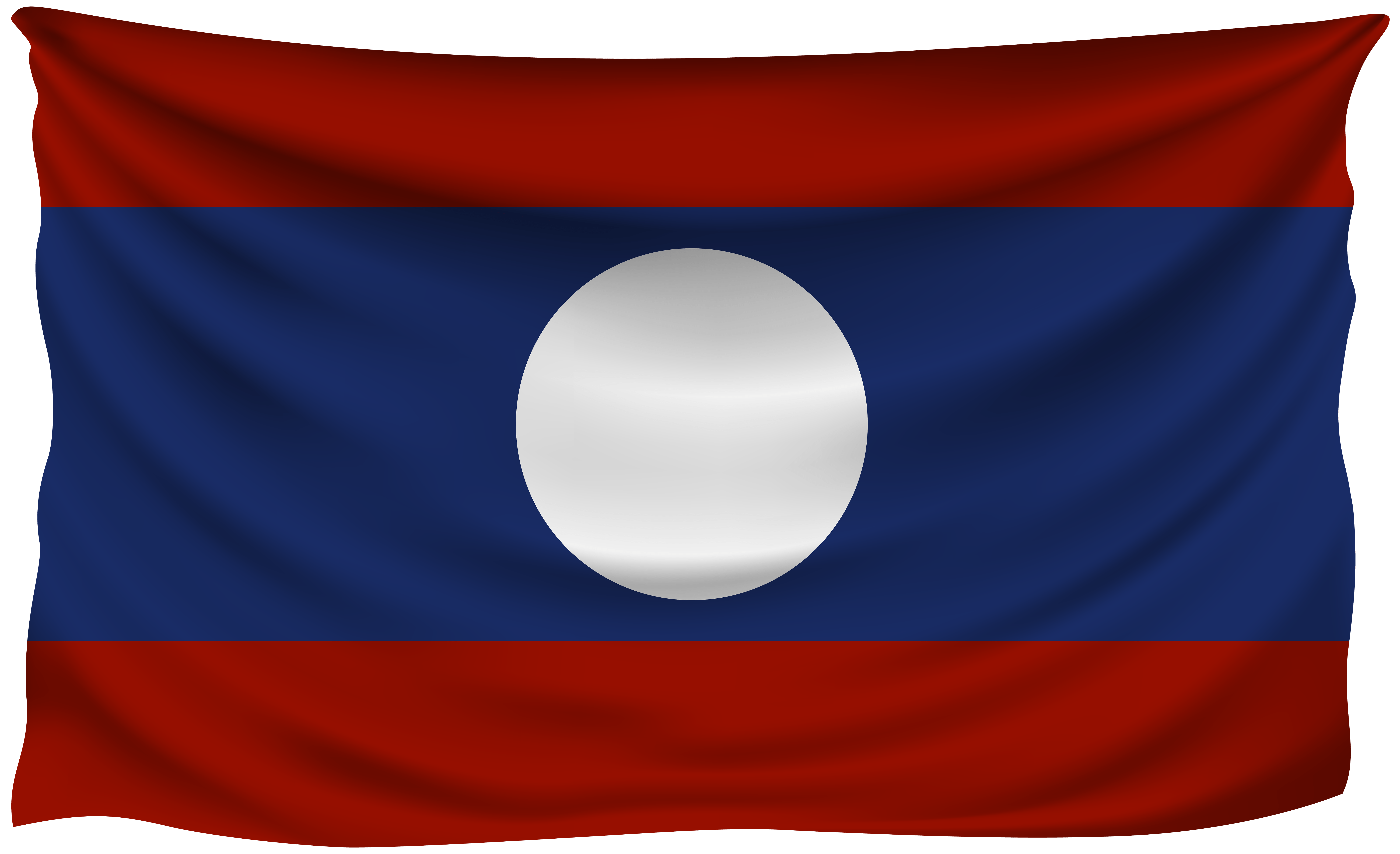 Laos Wrinkled Flag | Gallery Yopriceville - High-Quality Images and ...