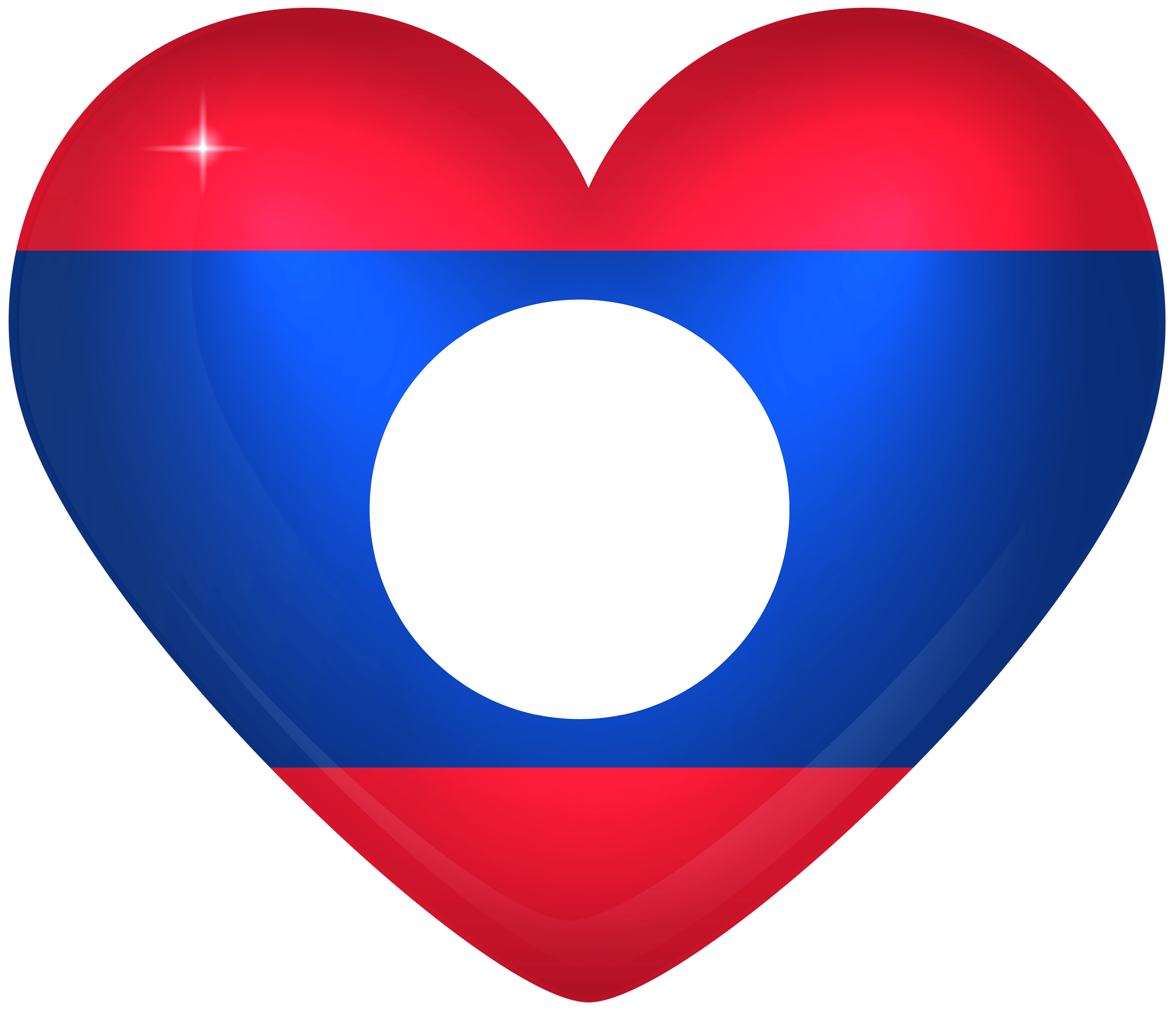 Laos Large Heart Flag | Gallery Yopriceville - High-Quality Images ...