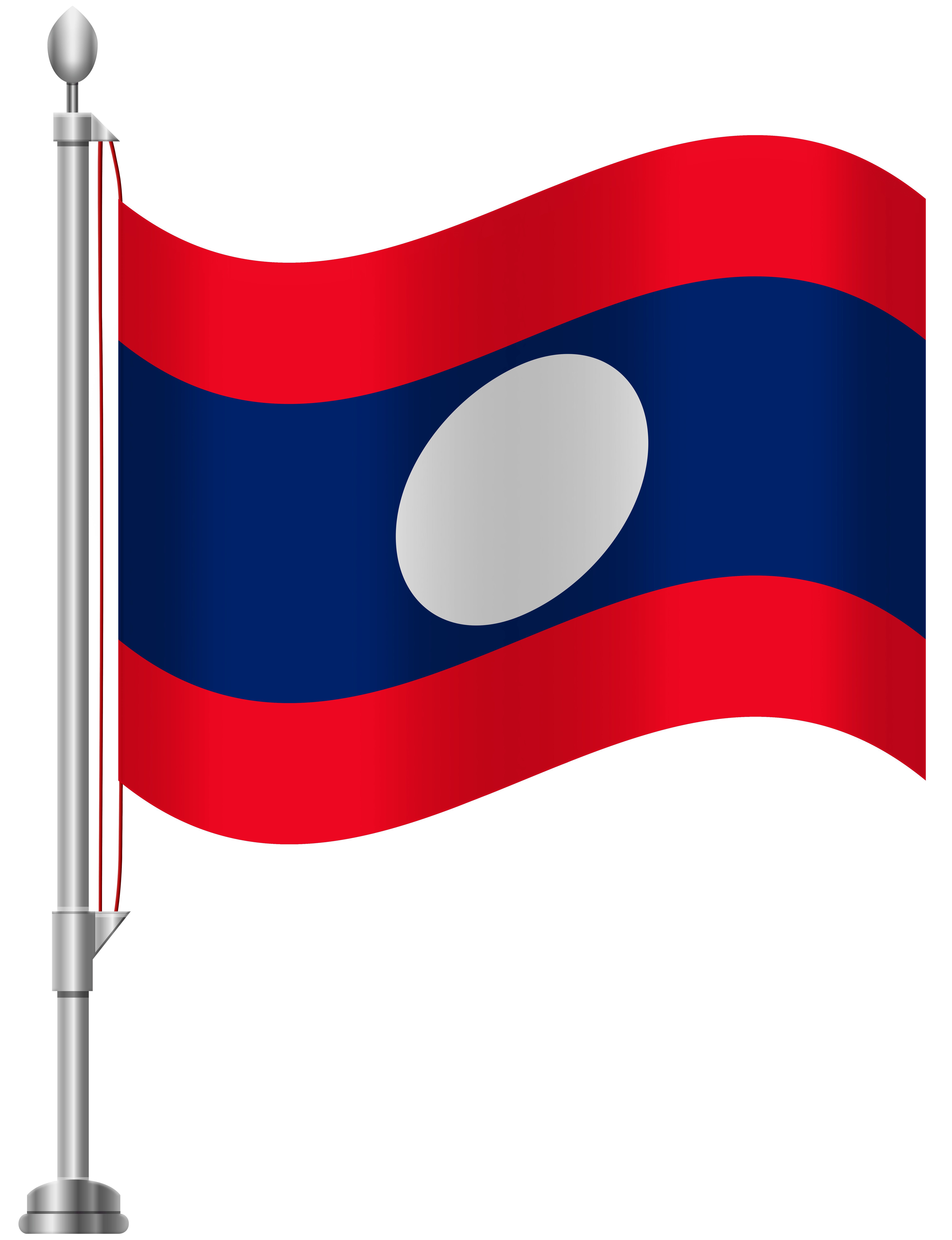 Laos Flag Transparent & PNG Clipart Free Download - YA-webdesign