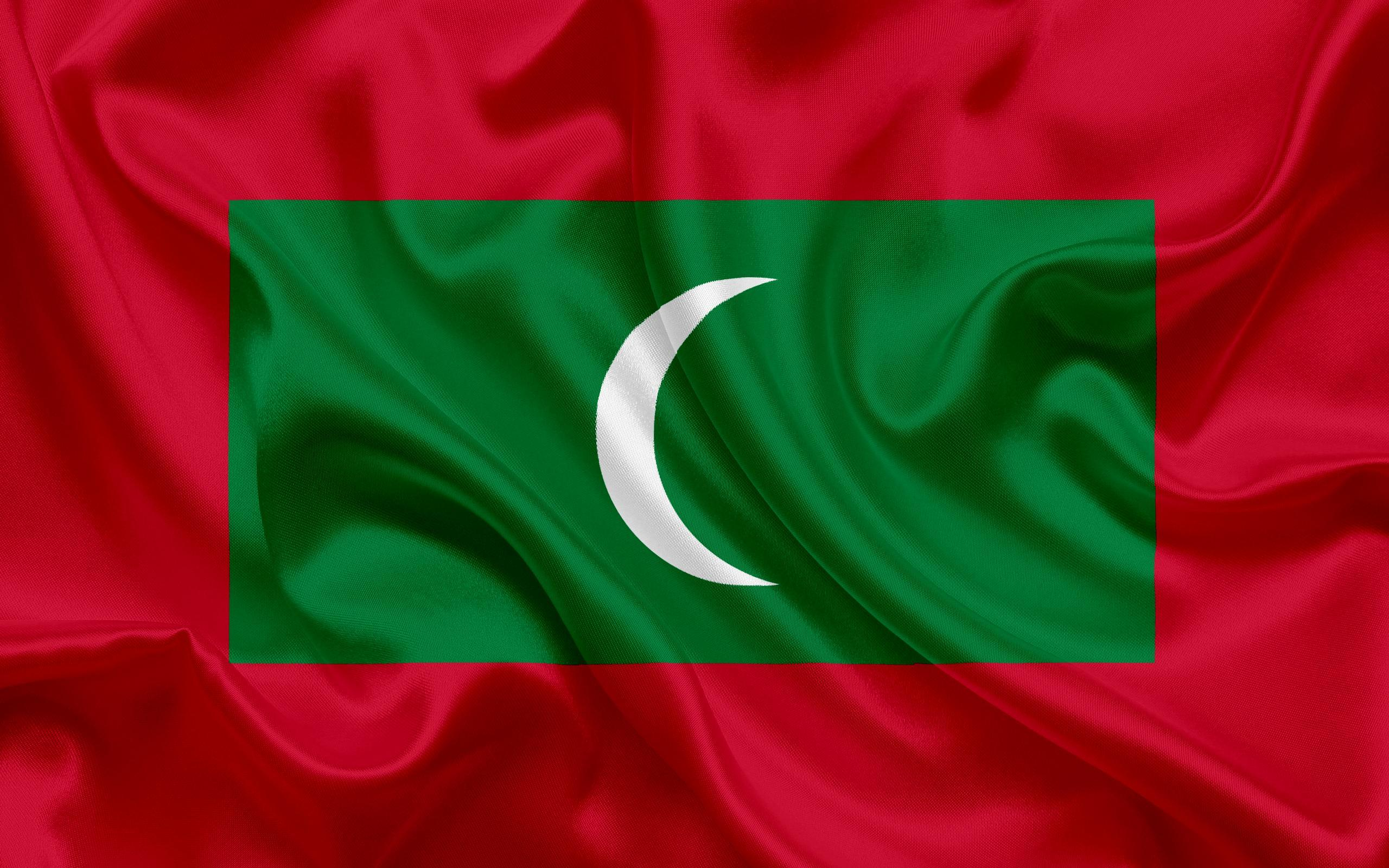Download wallpapers flag of Maldives, South Asia, Maldives, national ...