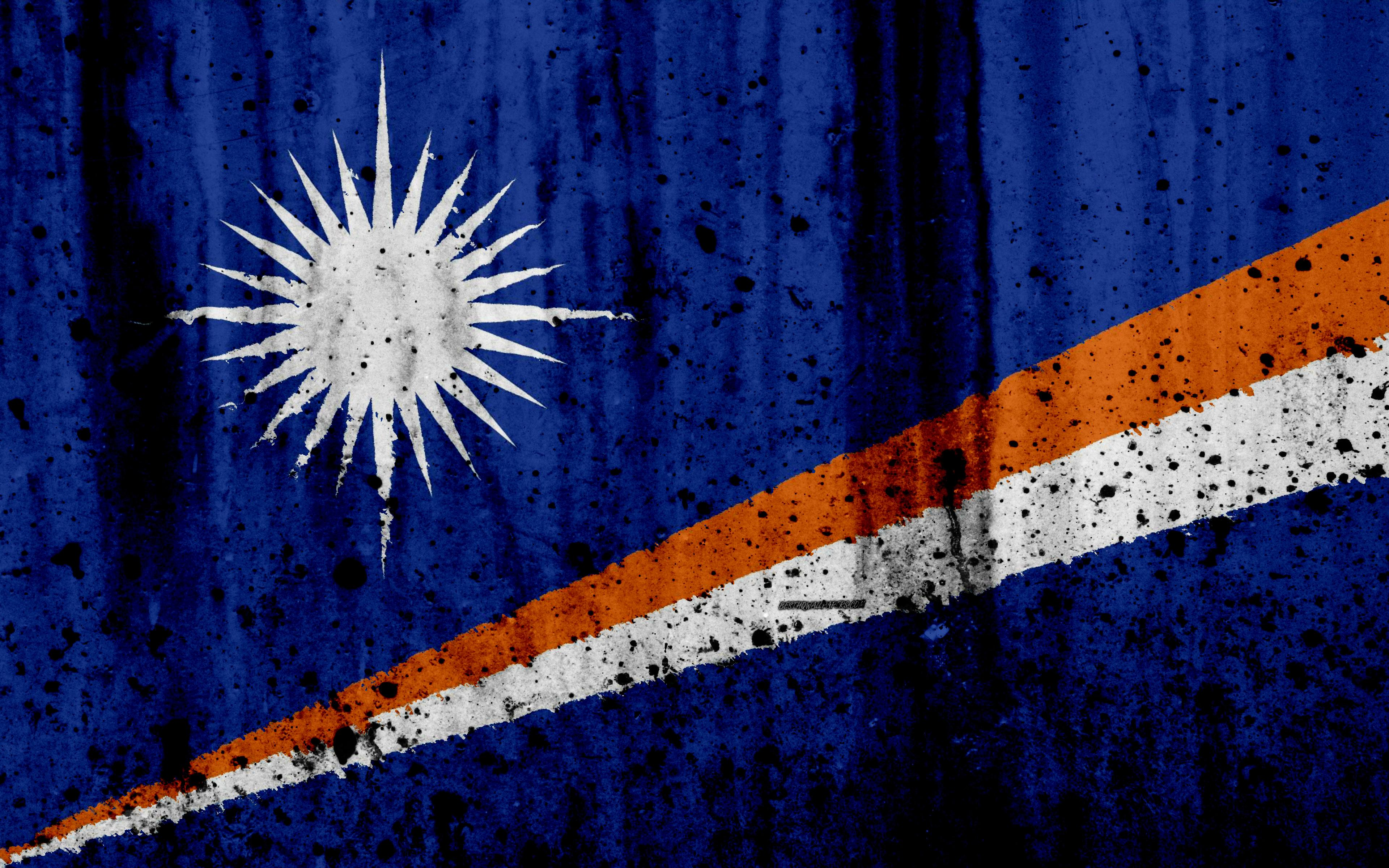 Download wallpapers Marshall Islands flag, 4k, grunge, flag of ...