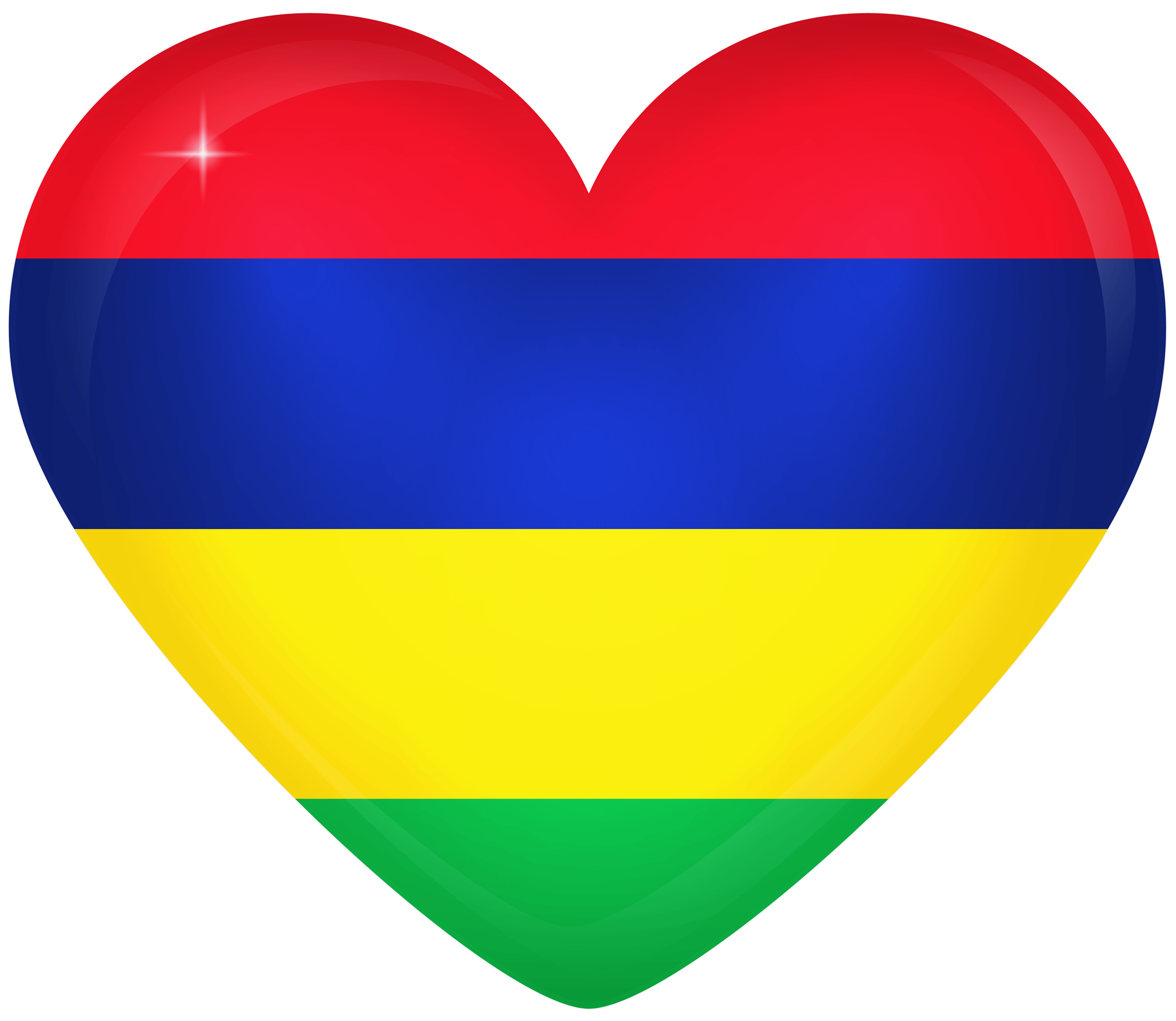 Mauritius Large Heart Flag | Gallery Yopriceville - High-Quality ...