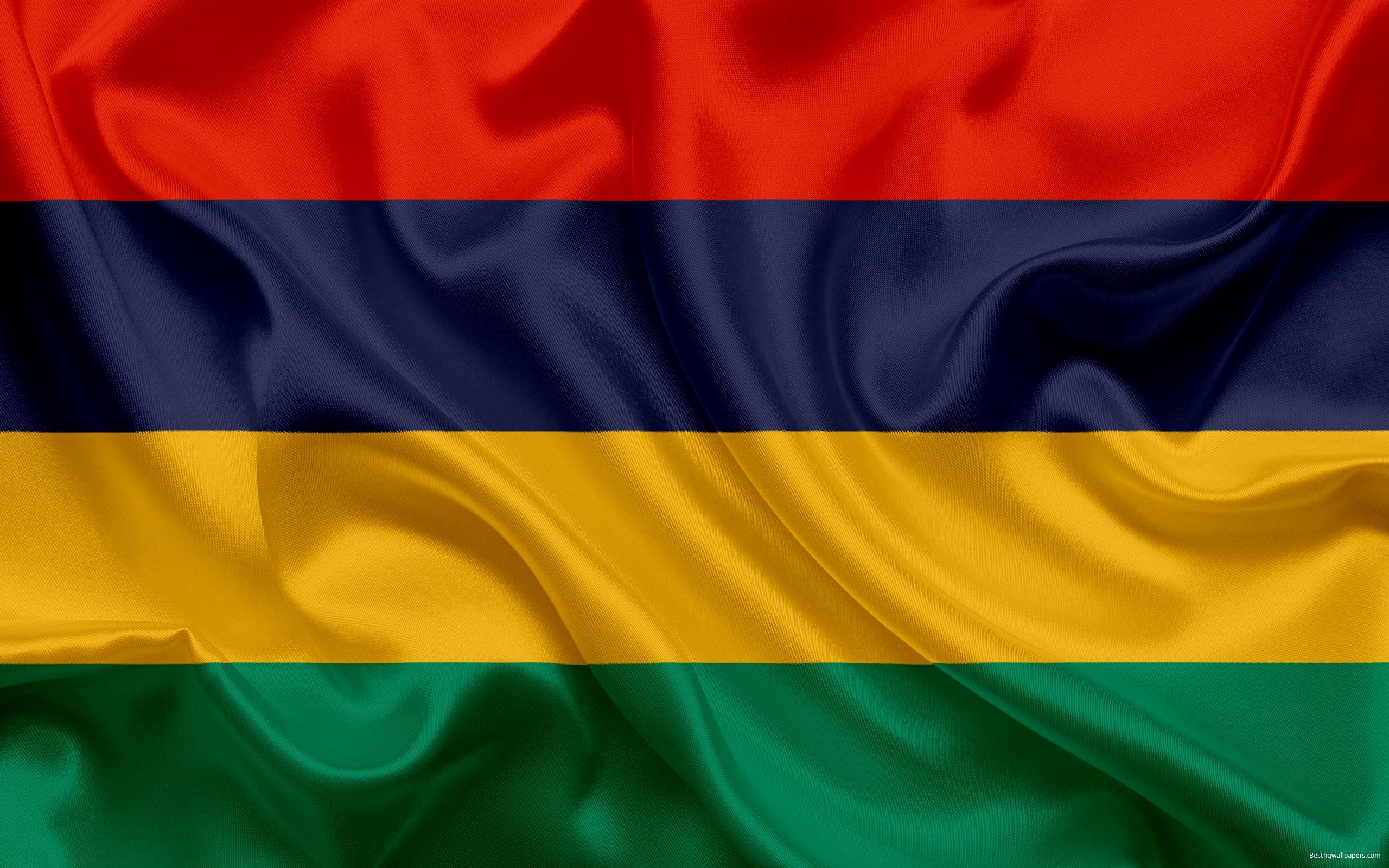 Download wallpapers Flag of Mauritius, National flag, Republic of