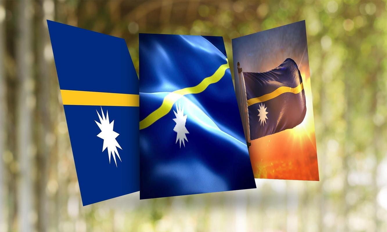 Nauru Flag Wallpaper for Android - APK Download
