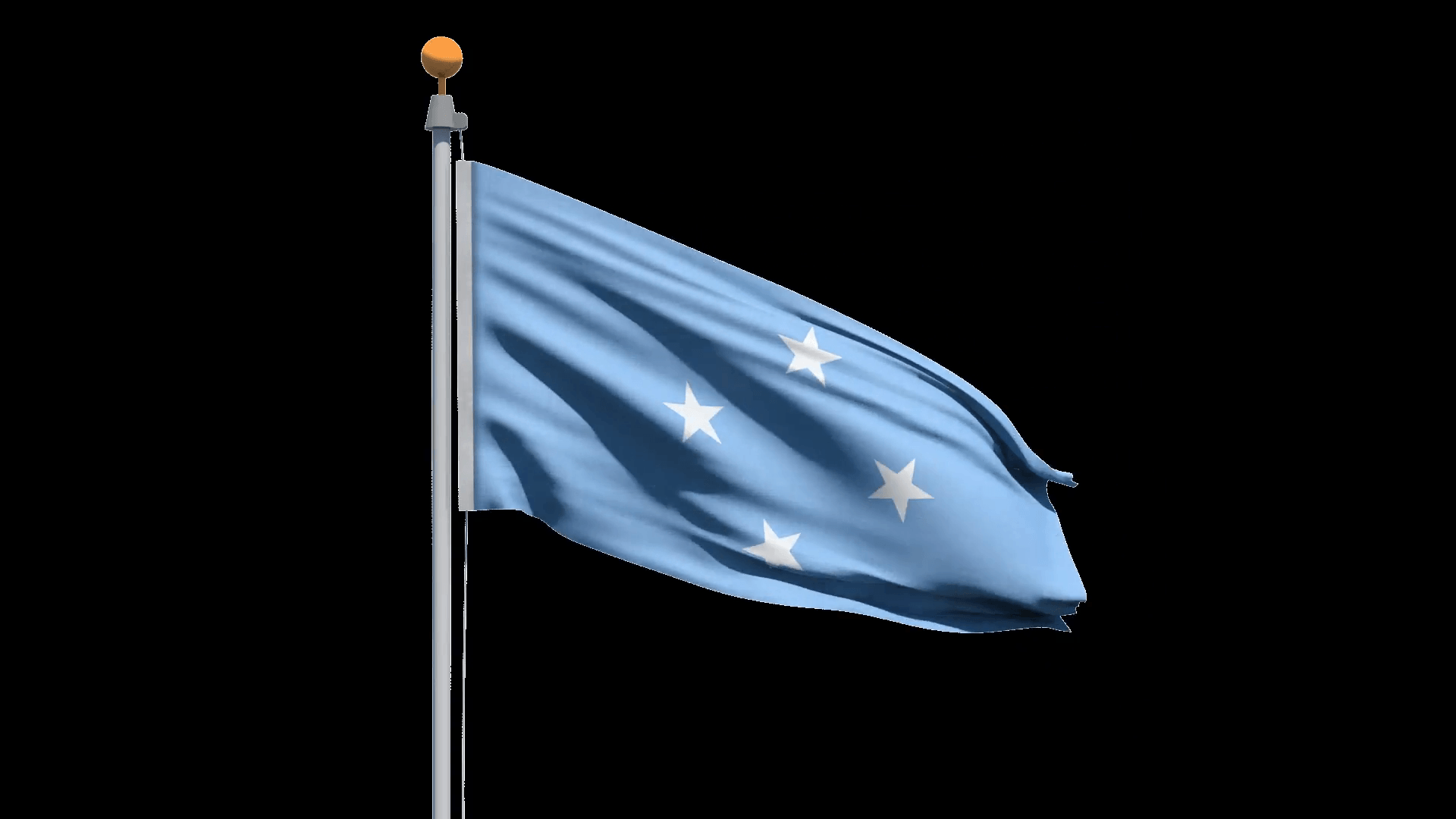 Flag of the Federated States of Micronesia waving in the wind, with