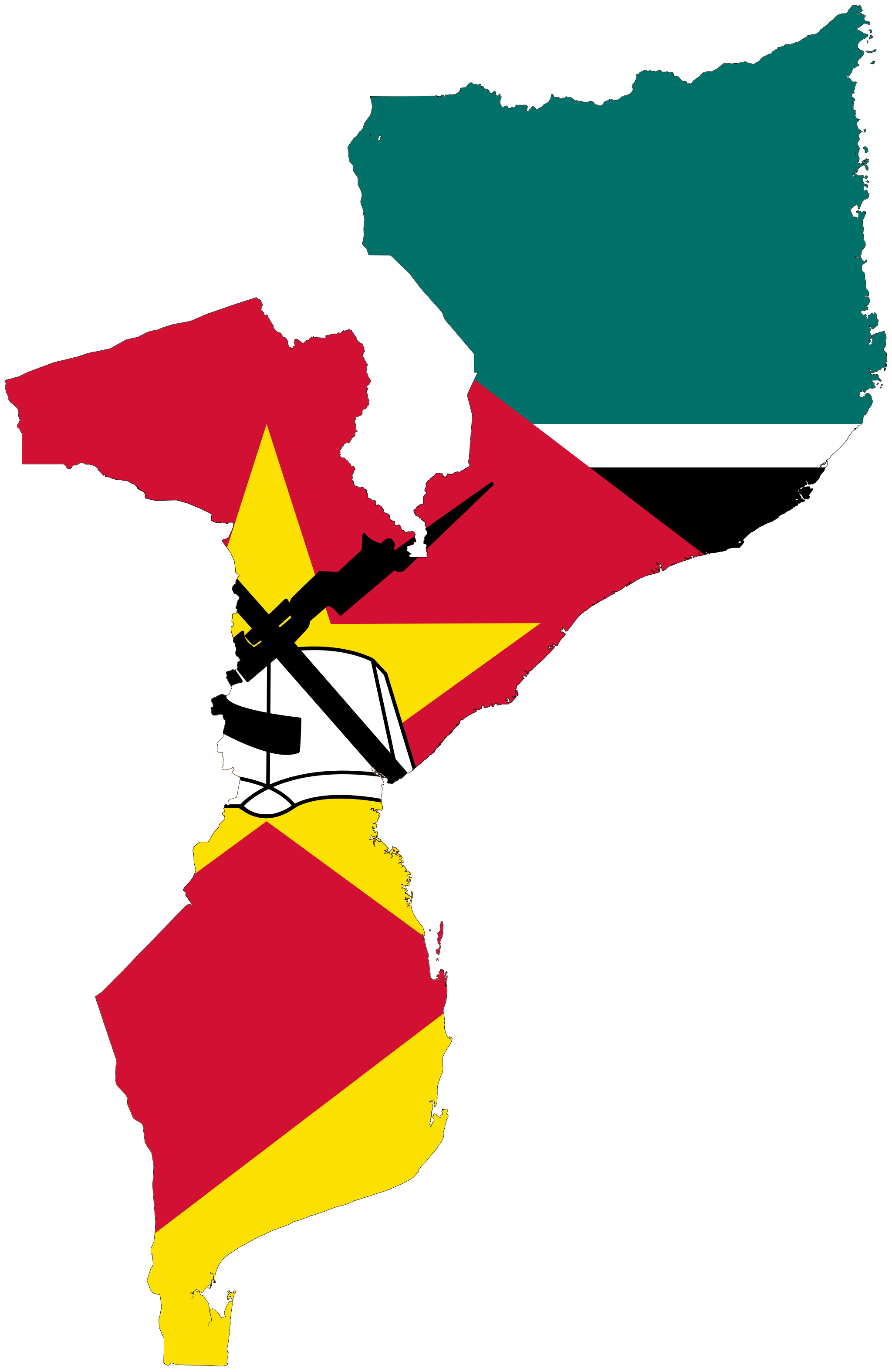 Mozambique Flag map …