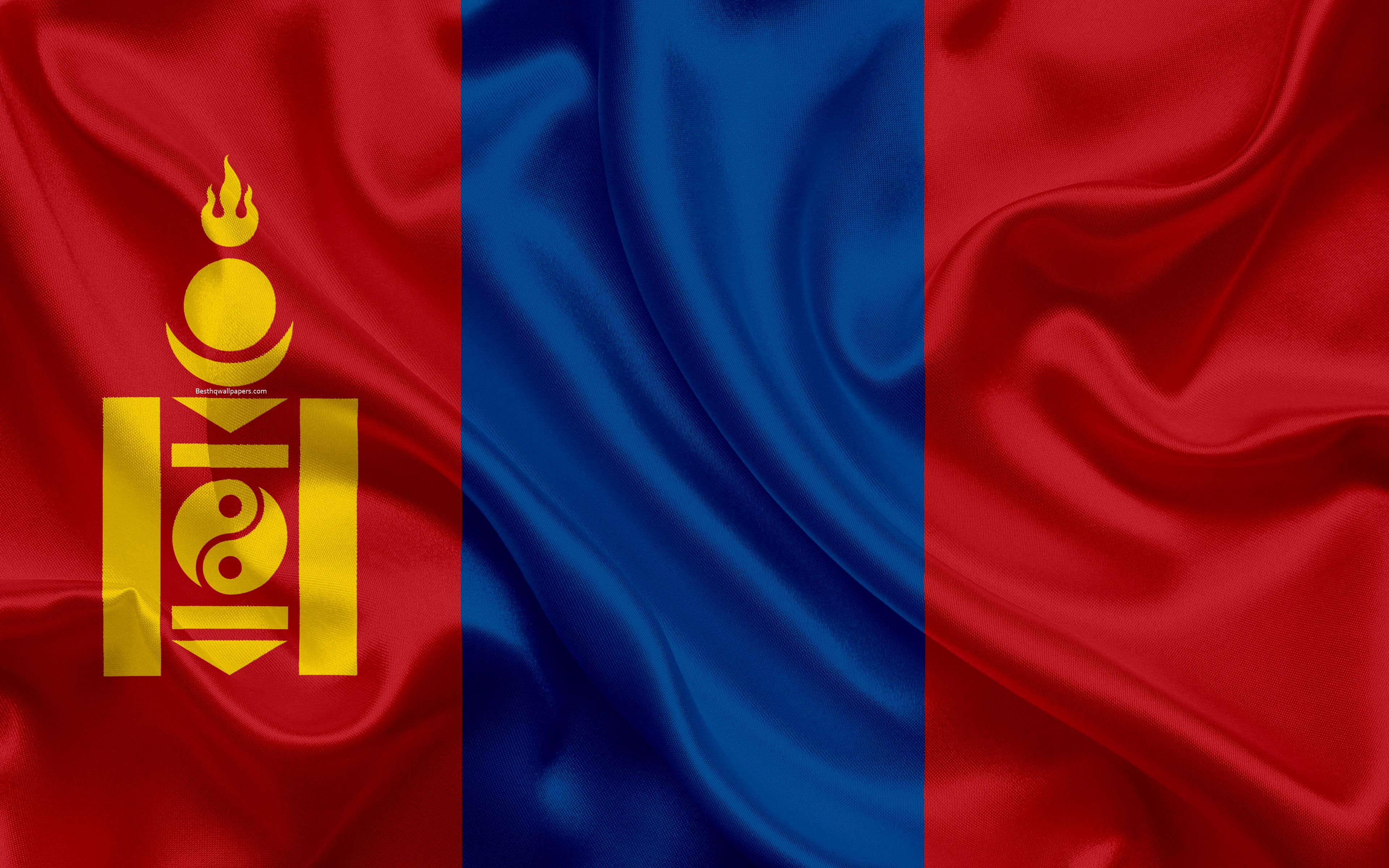 Download wallpapers Flag of Mongolia, 4k, silk texture, Asia ...
