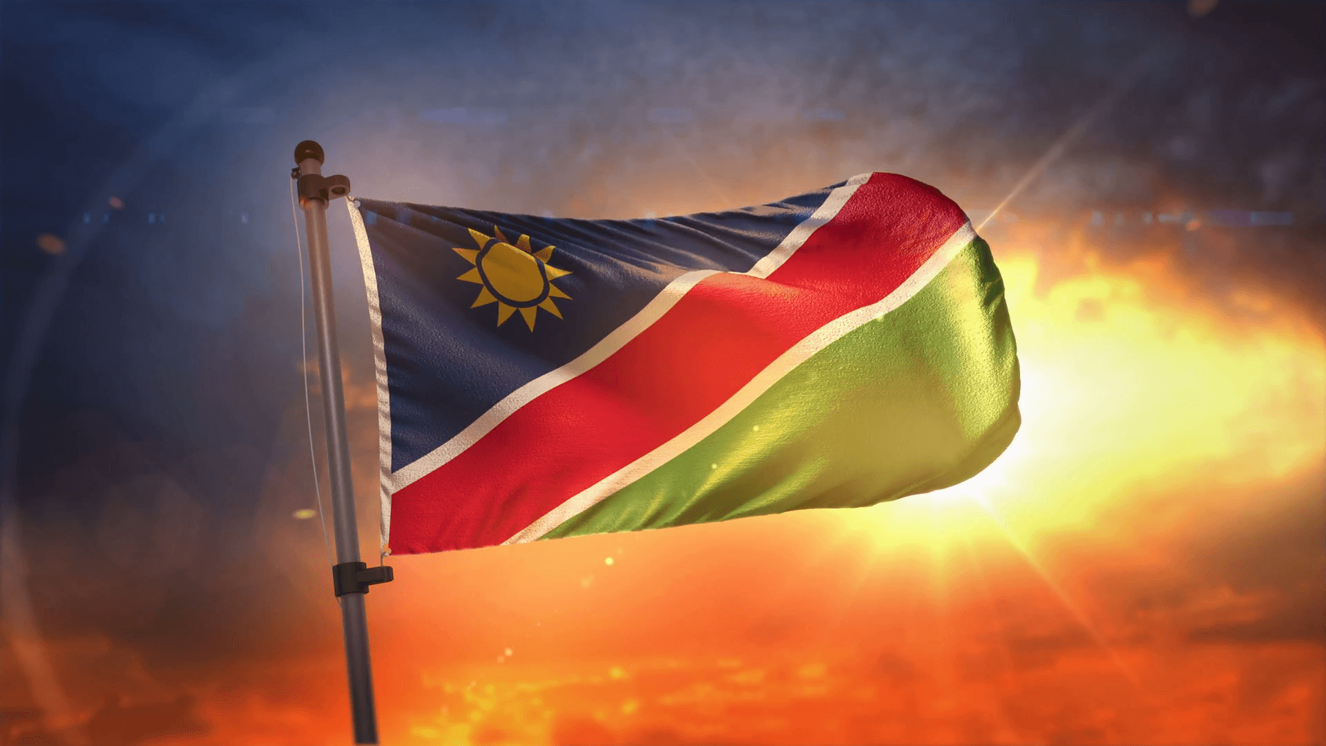 Namibia And Flag
