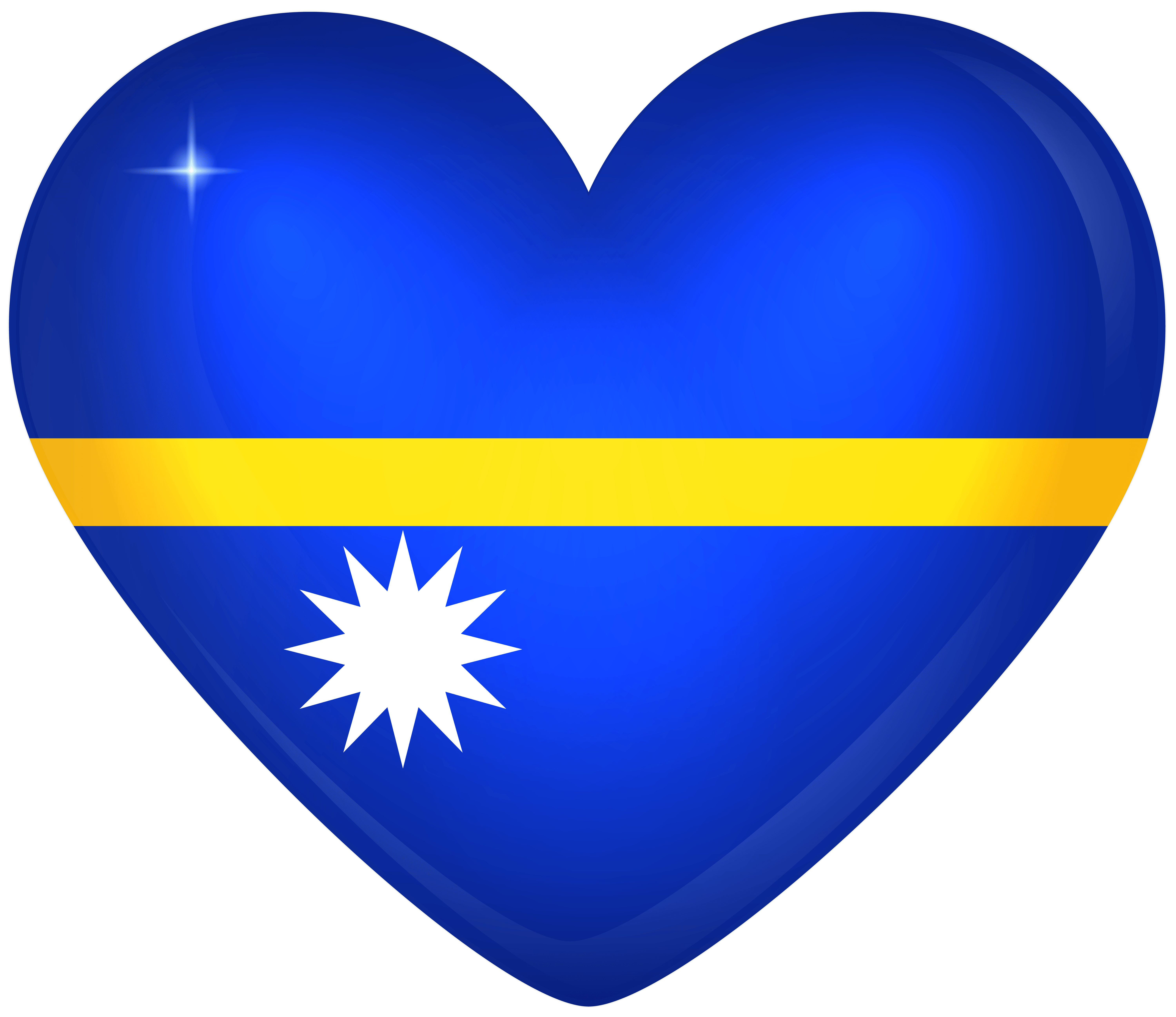 Nauru Large Heart Flag | Gallery Yopriceville - High-Quality Images ...