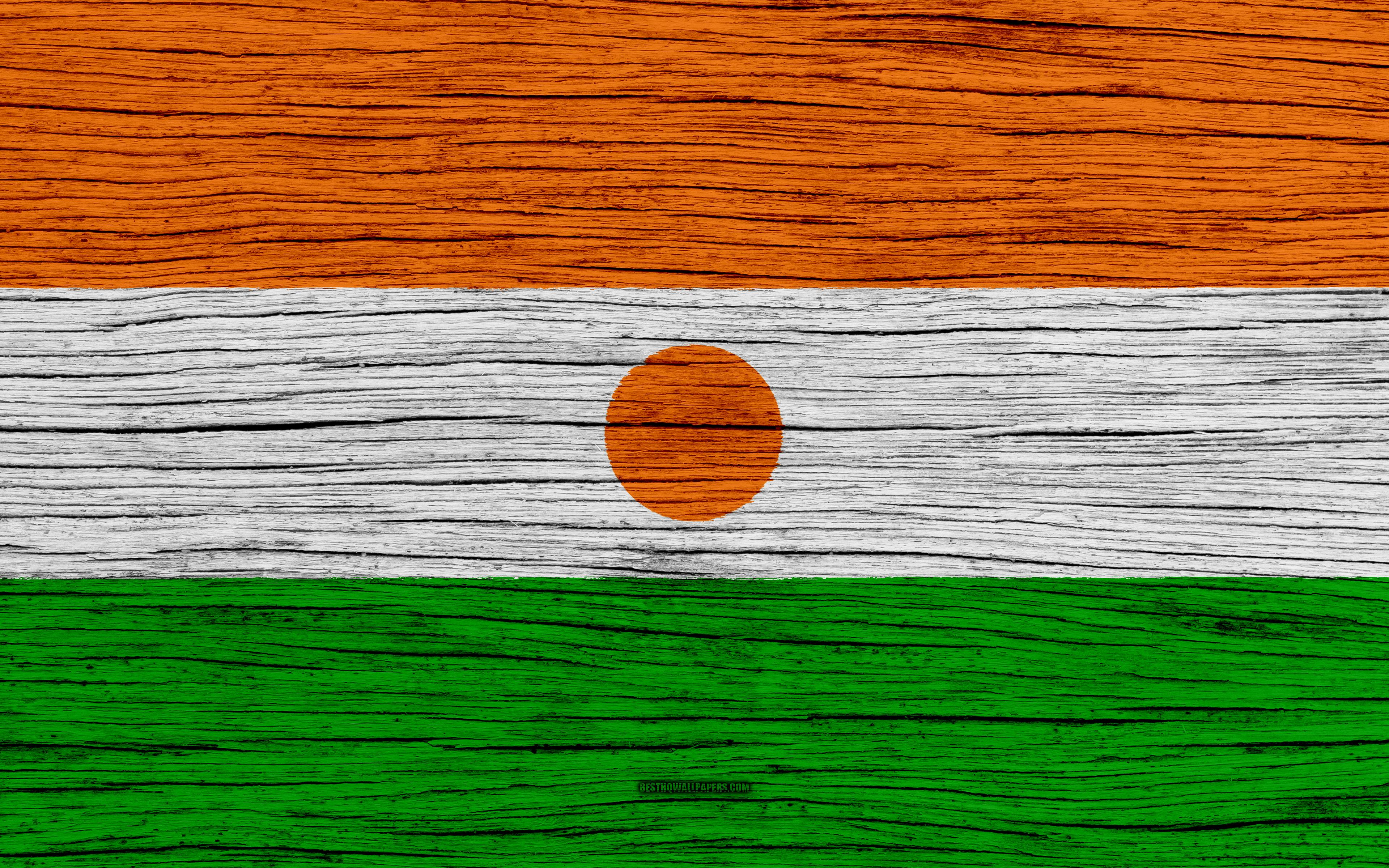 Download wallpapers Flag of Niger, 4k, Africa, wooden texture ...