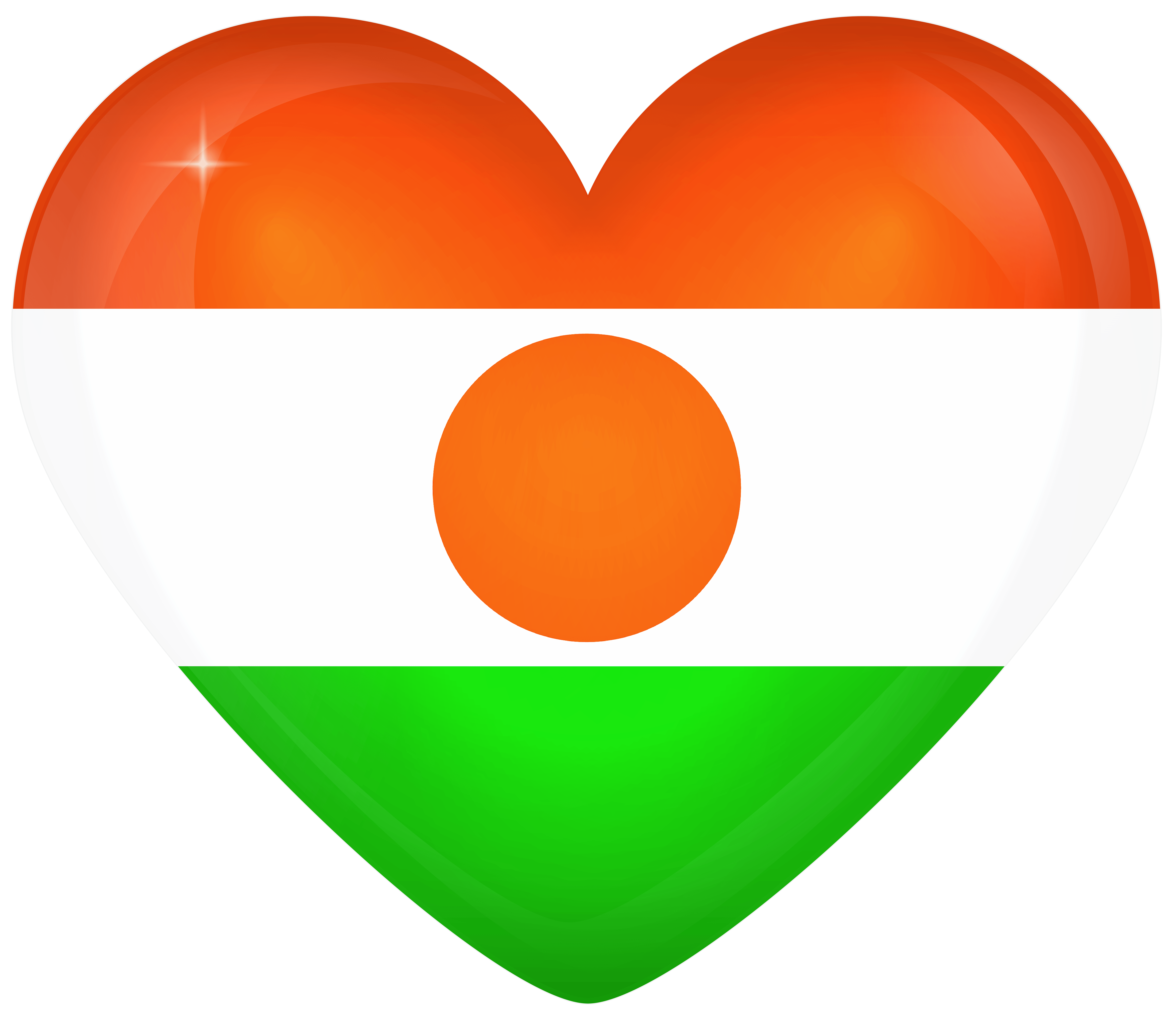 Niger Large Heart Flag | Gallery Yopriceville - High-Quality Images ...