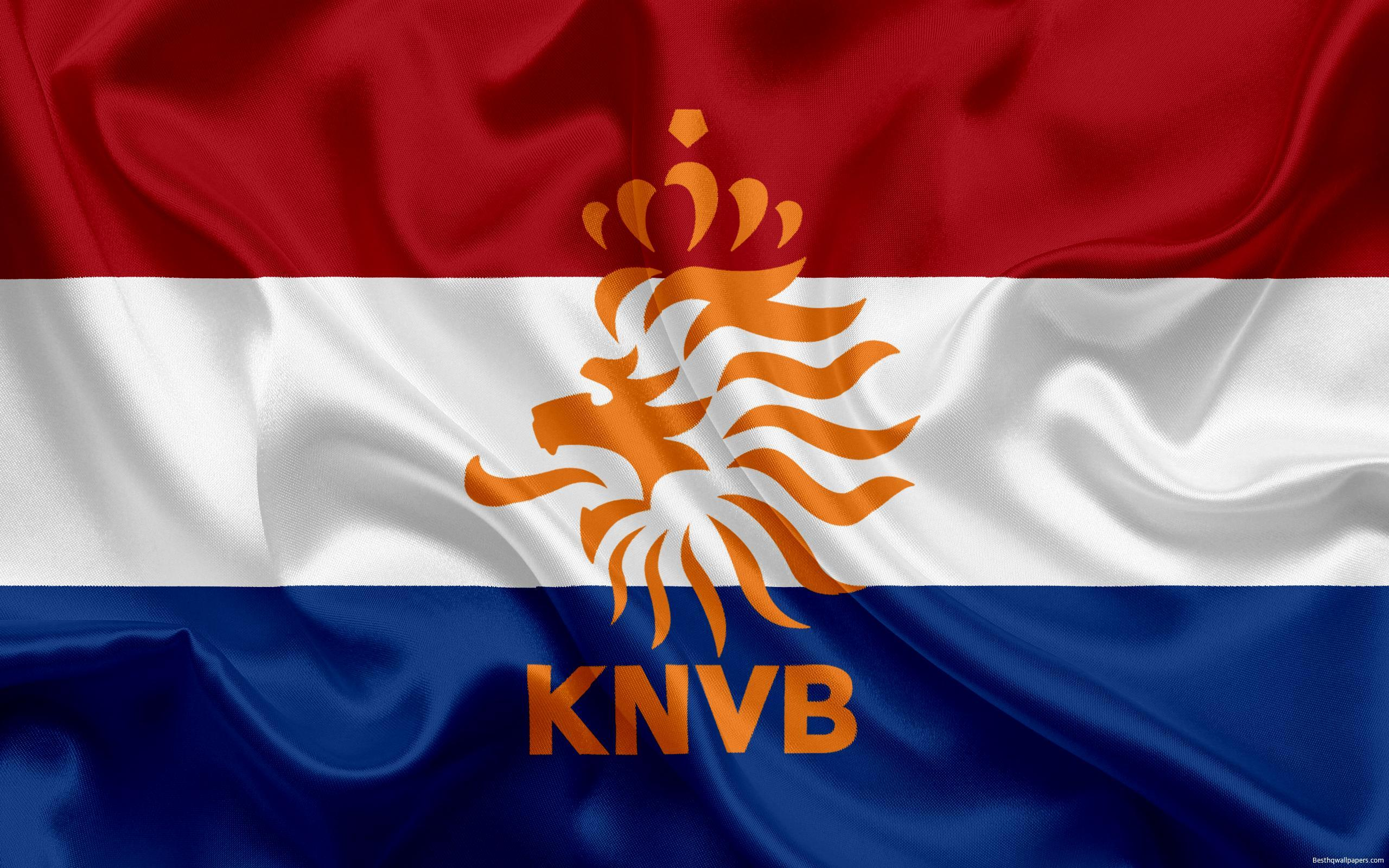 Download wallpapers Netherlands national football team, emblem, logo