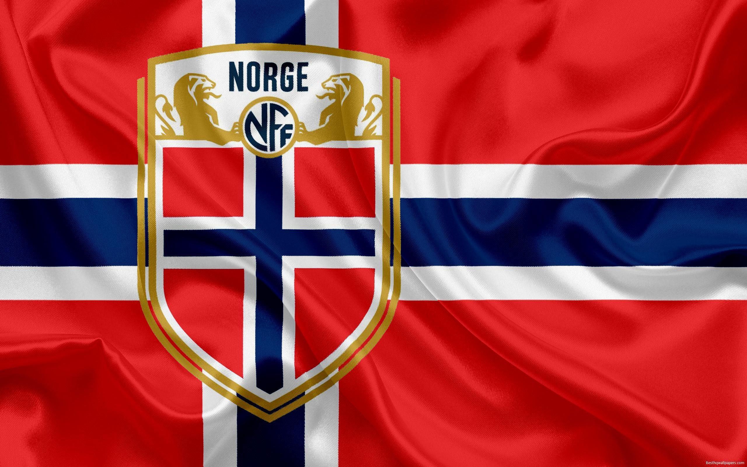 Download wallpapers Norway national football team, emblem, logo