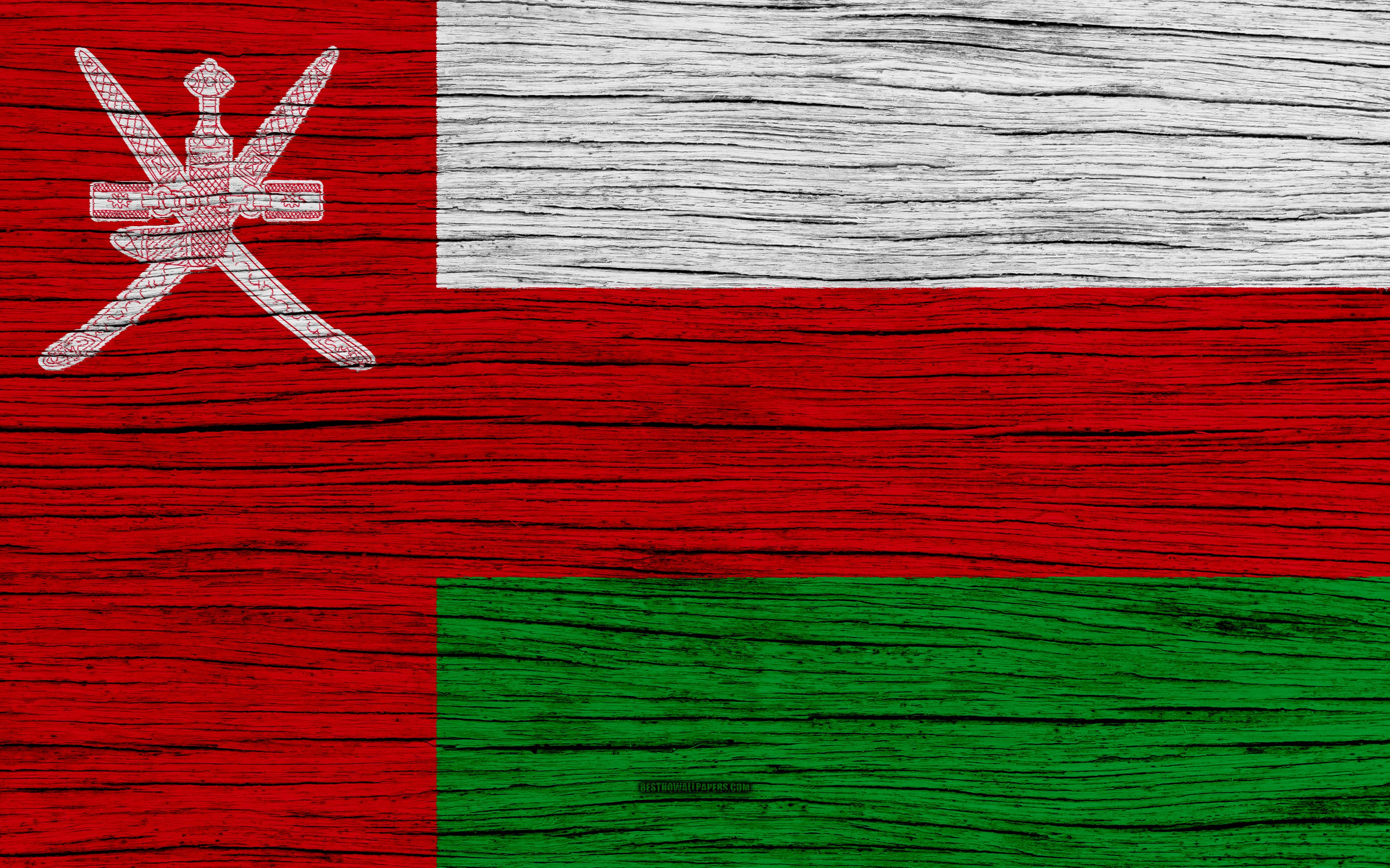 Download wallpapers Flag of Oman, 4k, Asia, wooden texture, Omani ...