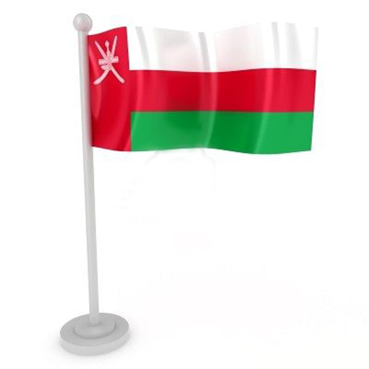 Graphics Wallpaper Flag Of Oman , Omani National Flag In Graphic ...