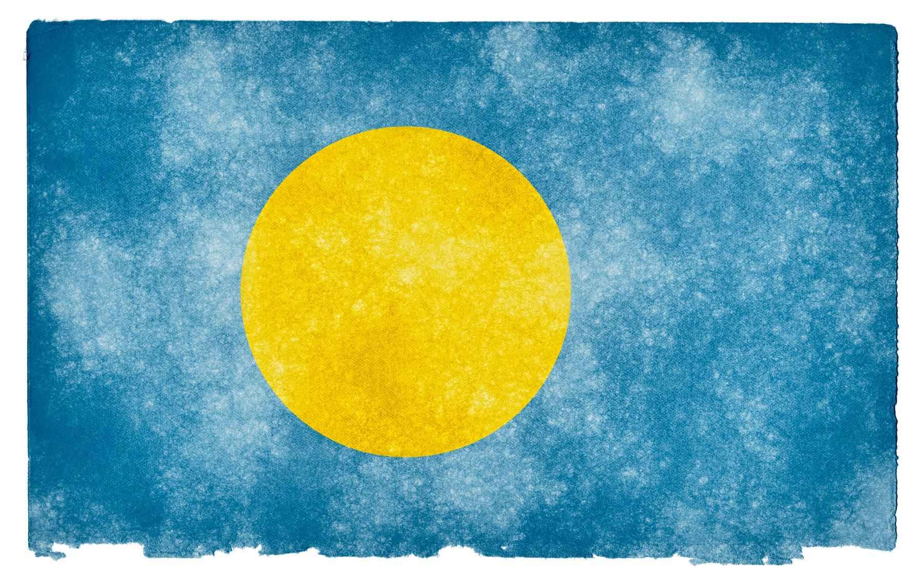 Free photo: Palau Grunge Flag