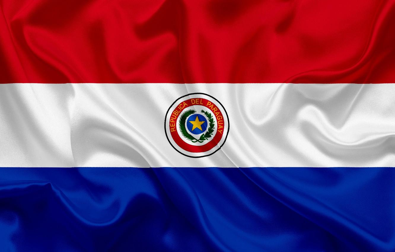 Wallpaper background, flag, coat of arms, fon, flag, Paraguay ...