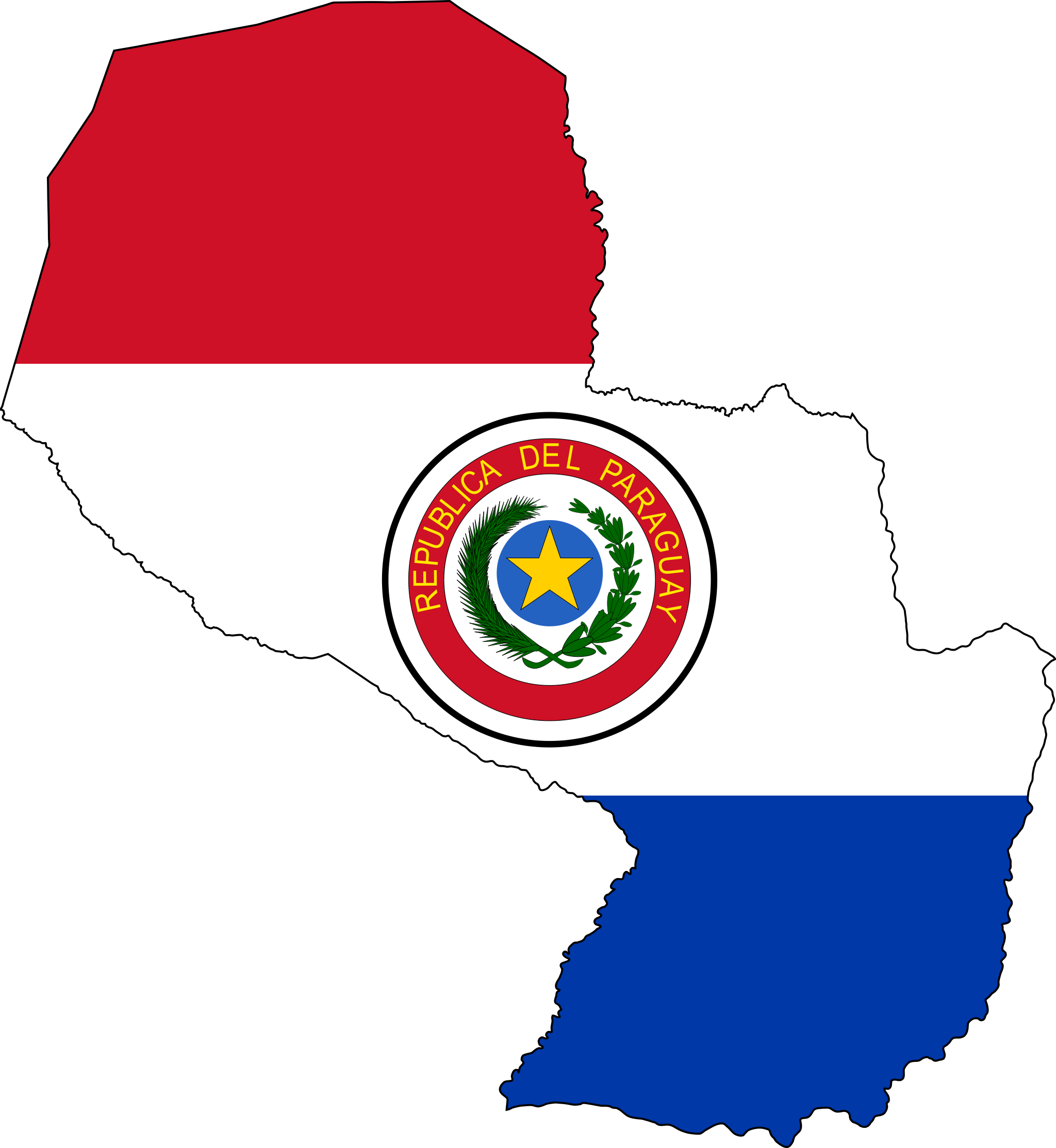 Paraguay | Flag Maps | Pinterest | Map pictures, Flags of the world ...