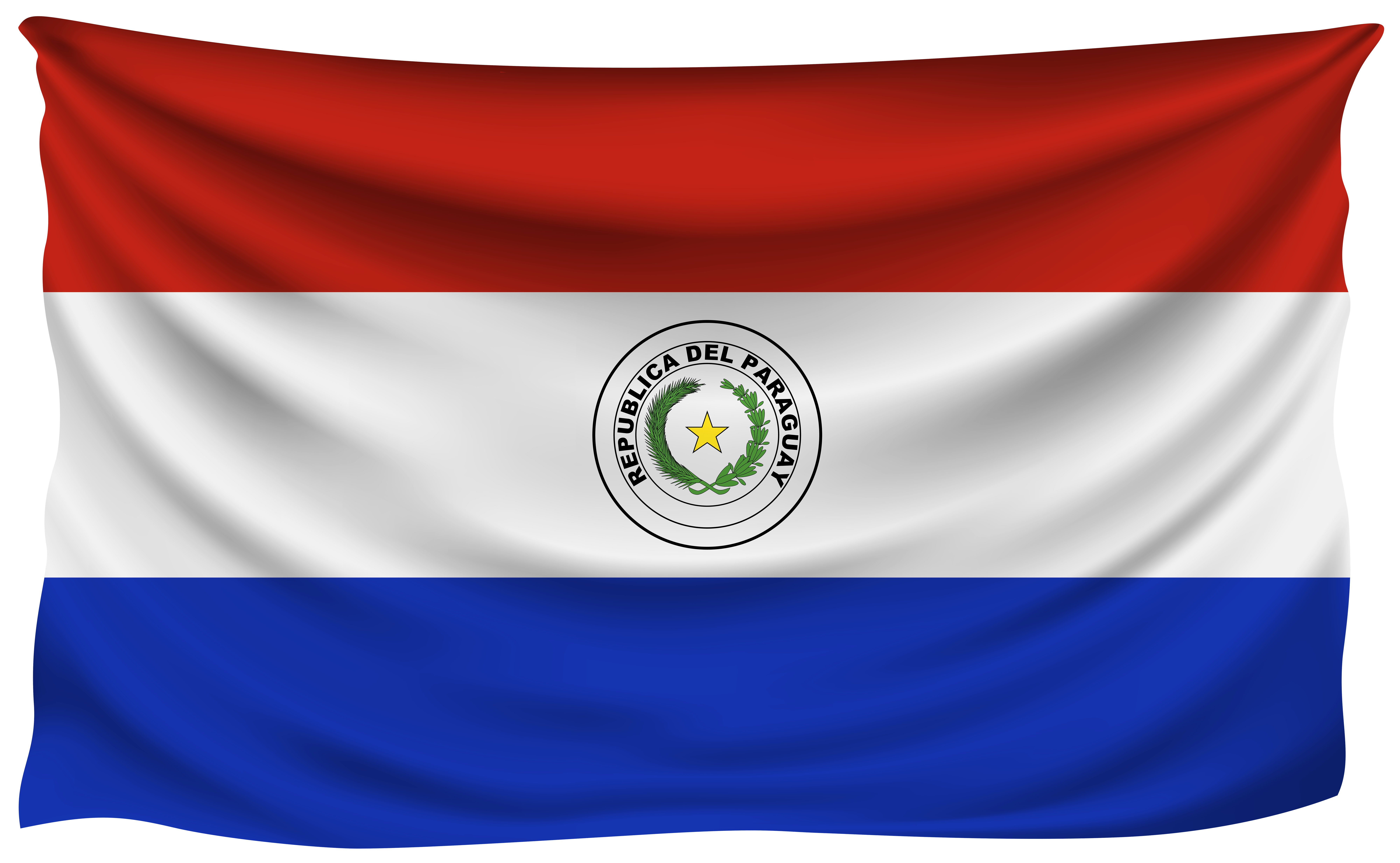 Paraguay Wrinkled Flag | Gallery Yopriceville - High-Quality Images ...