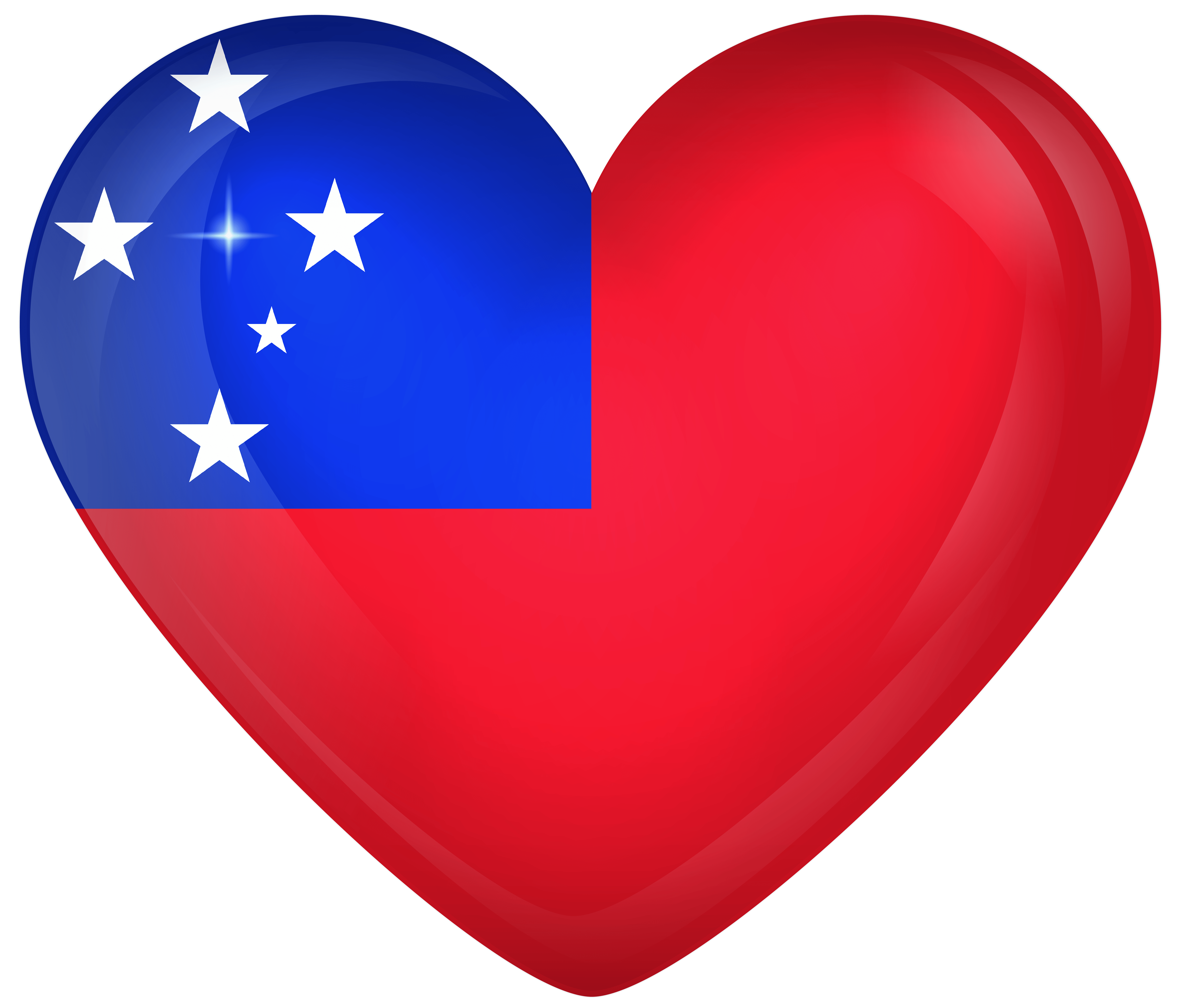 Samoa Large Heart Flag