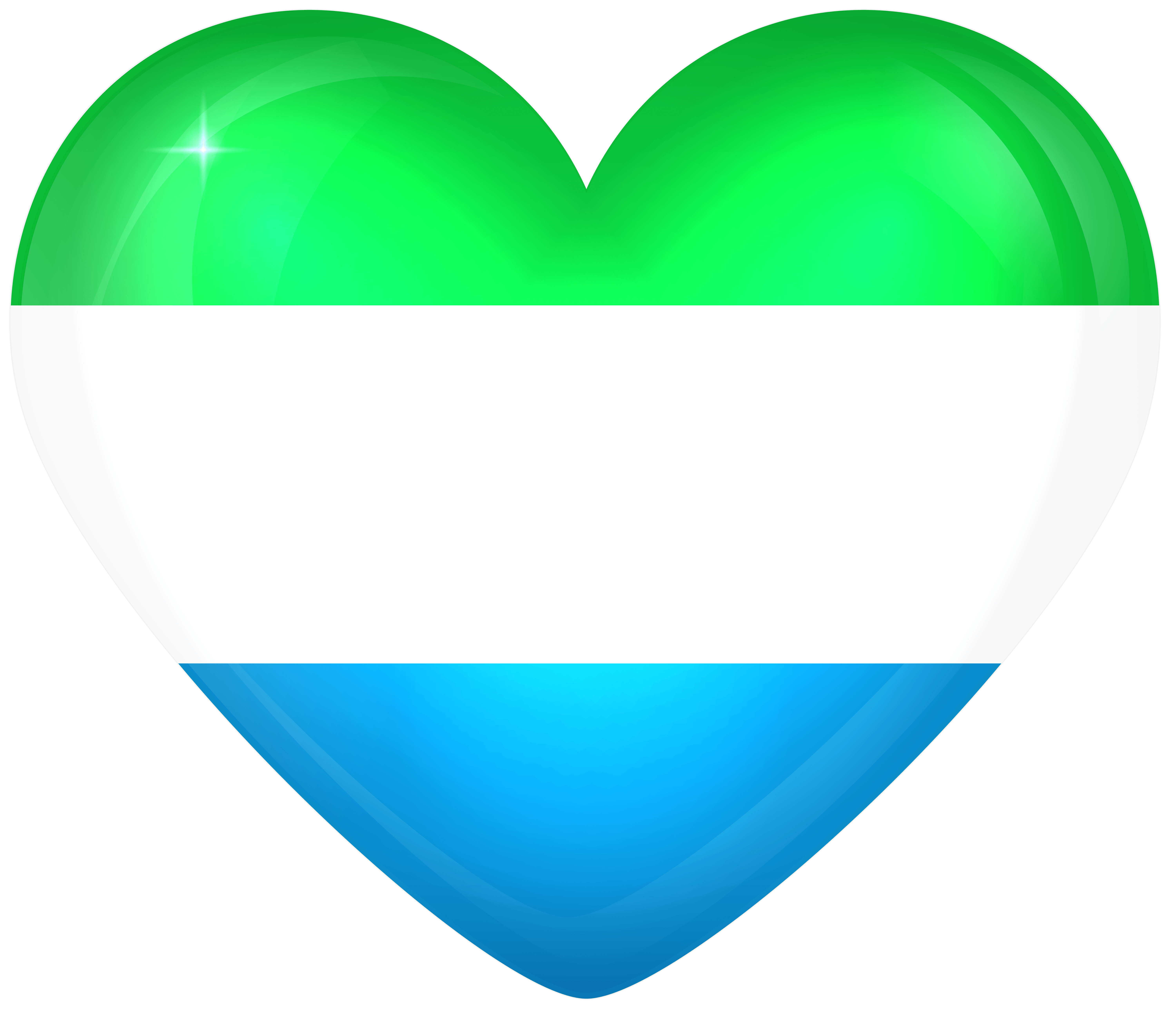Sierra Leone Large Heart Flag | Gallery Yopriceville - High-Quality ...