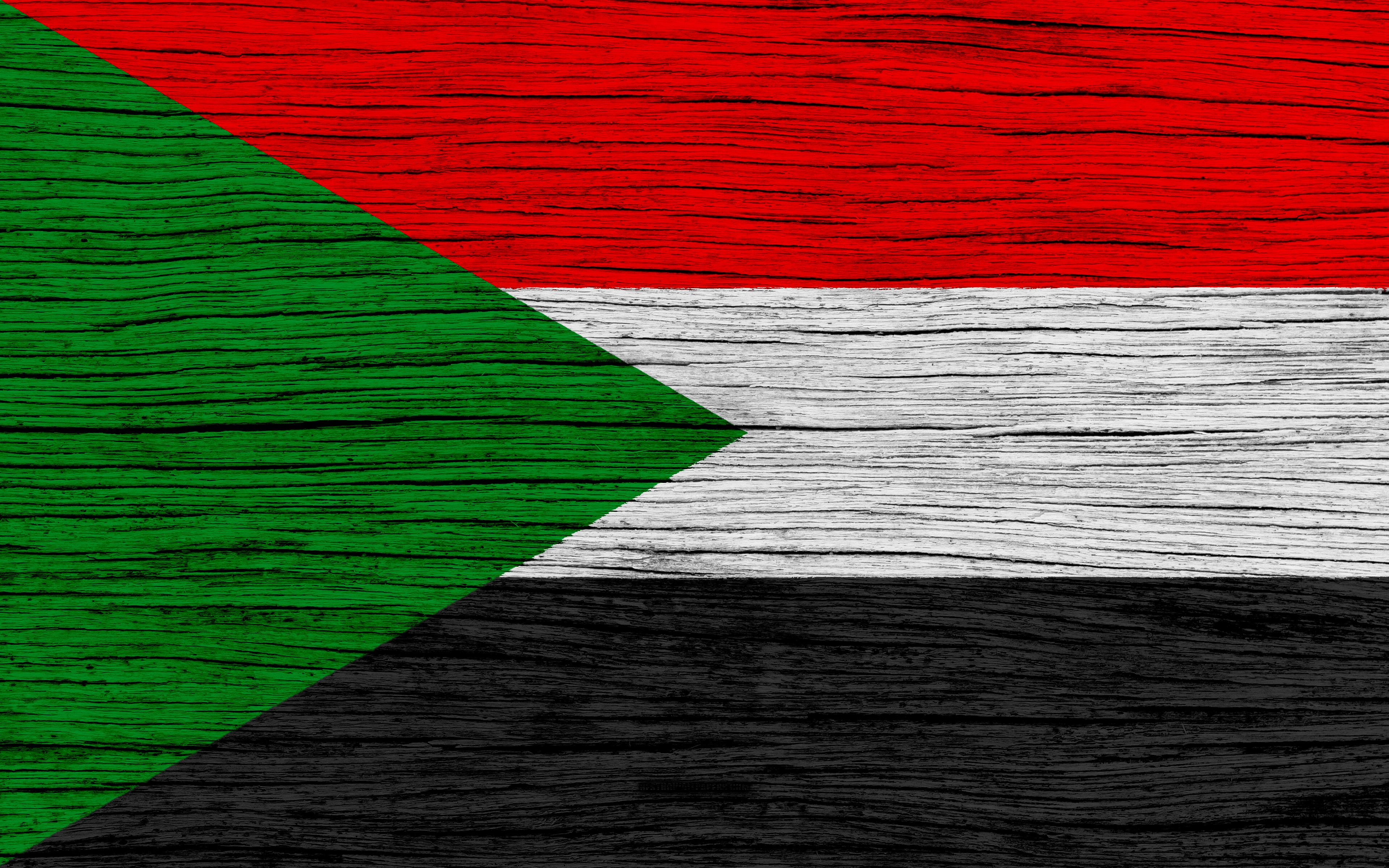Download wallpapers Flag of Sudan, 4k, Africa, wooden texture ...