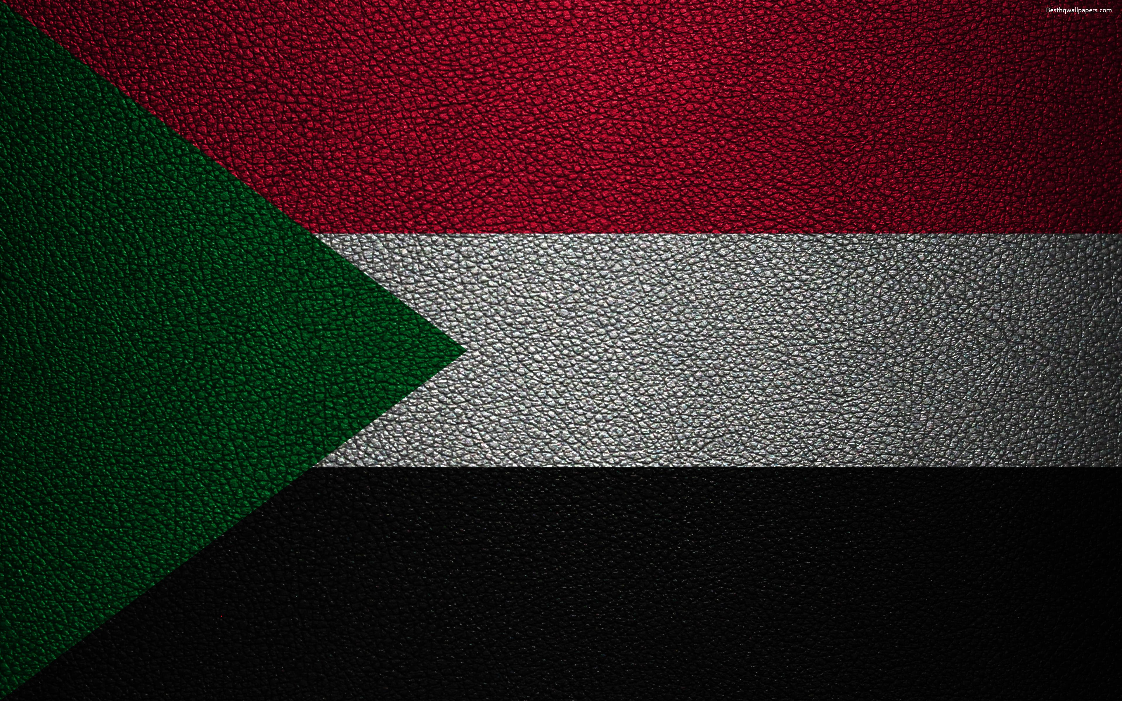 Download wallpapers Flag of Sudan, Africa, 4K, leather texture ...