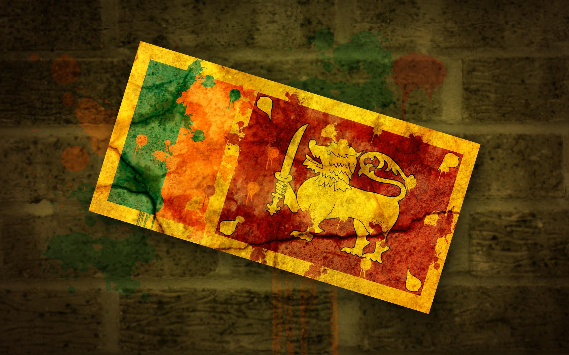I made a grungy Sri Lankan flag wallpaper! [1920 x 1200] : wallpapers