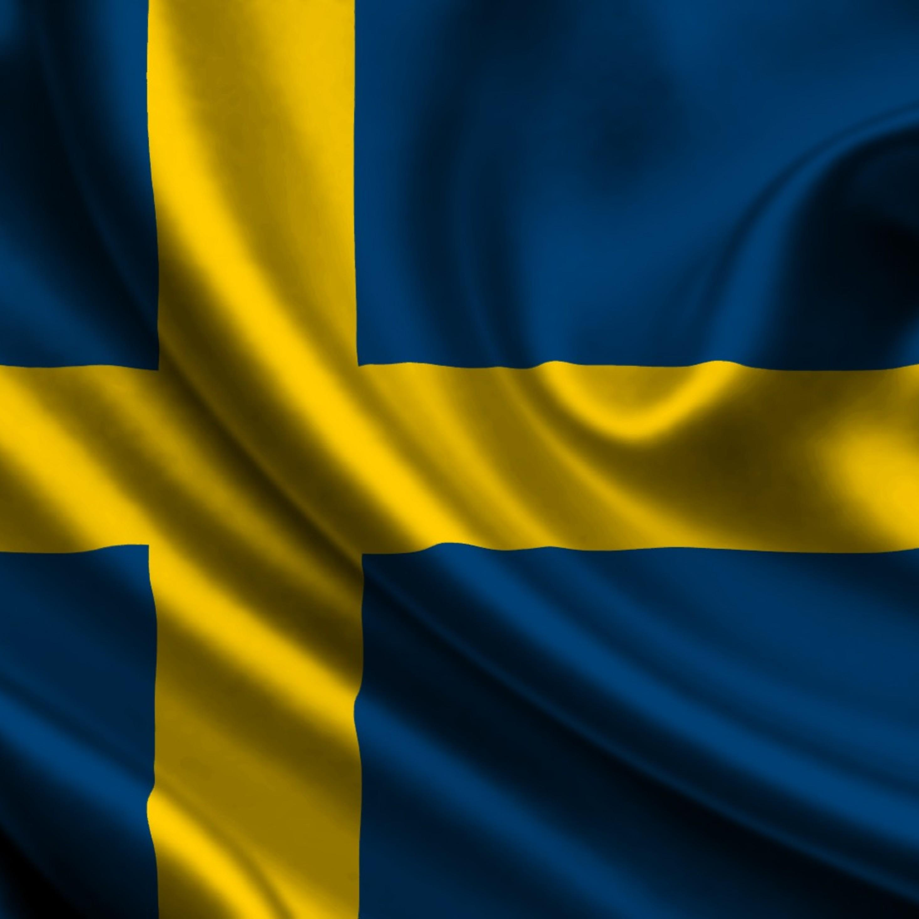 2932x2932 Sweden Flag Ipad Pro Retina Display HD 4k Wallpapers