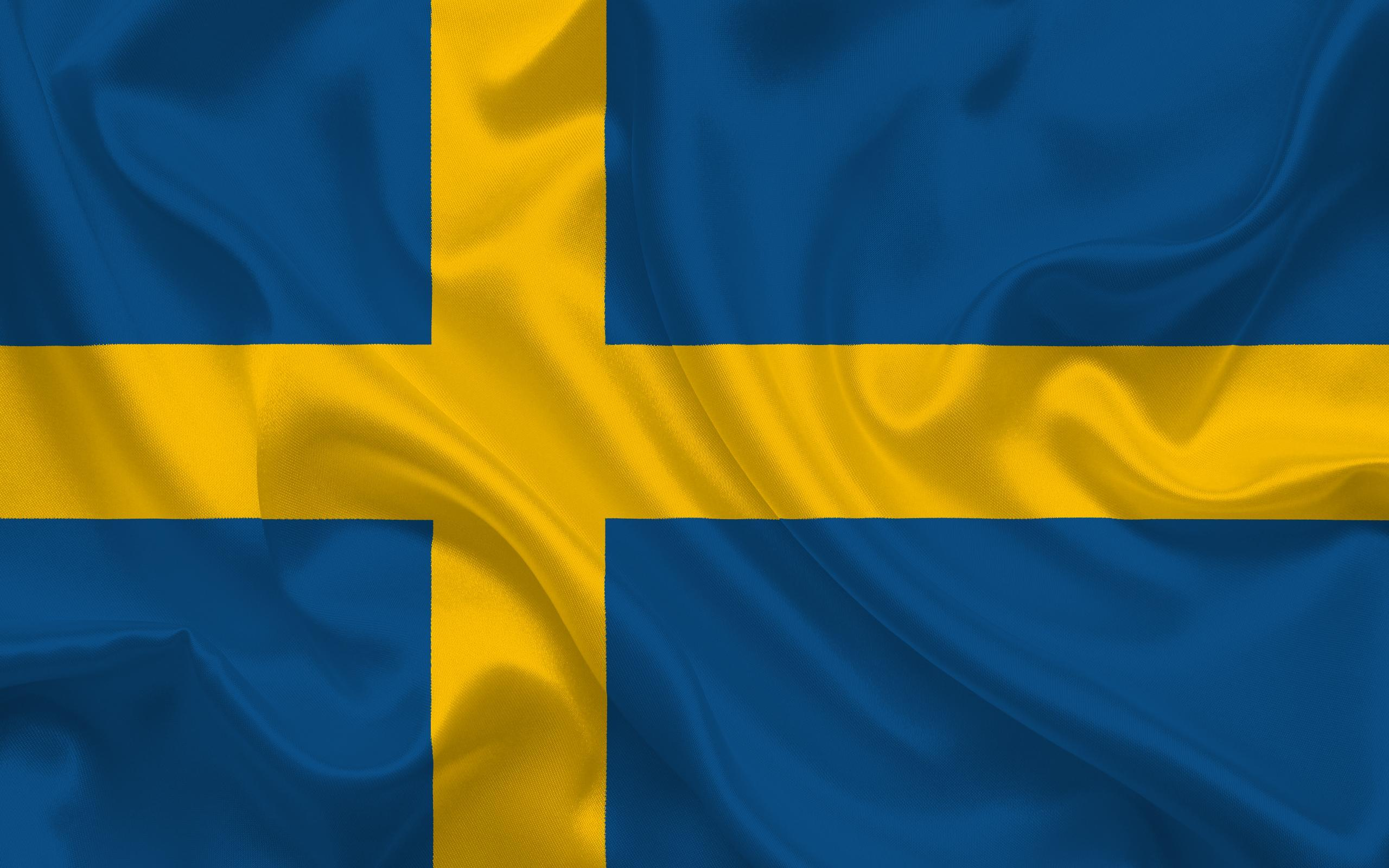 Download wallpapers Swedish flag, Sweden, Europe, flag of Sweden for