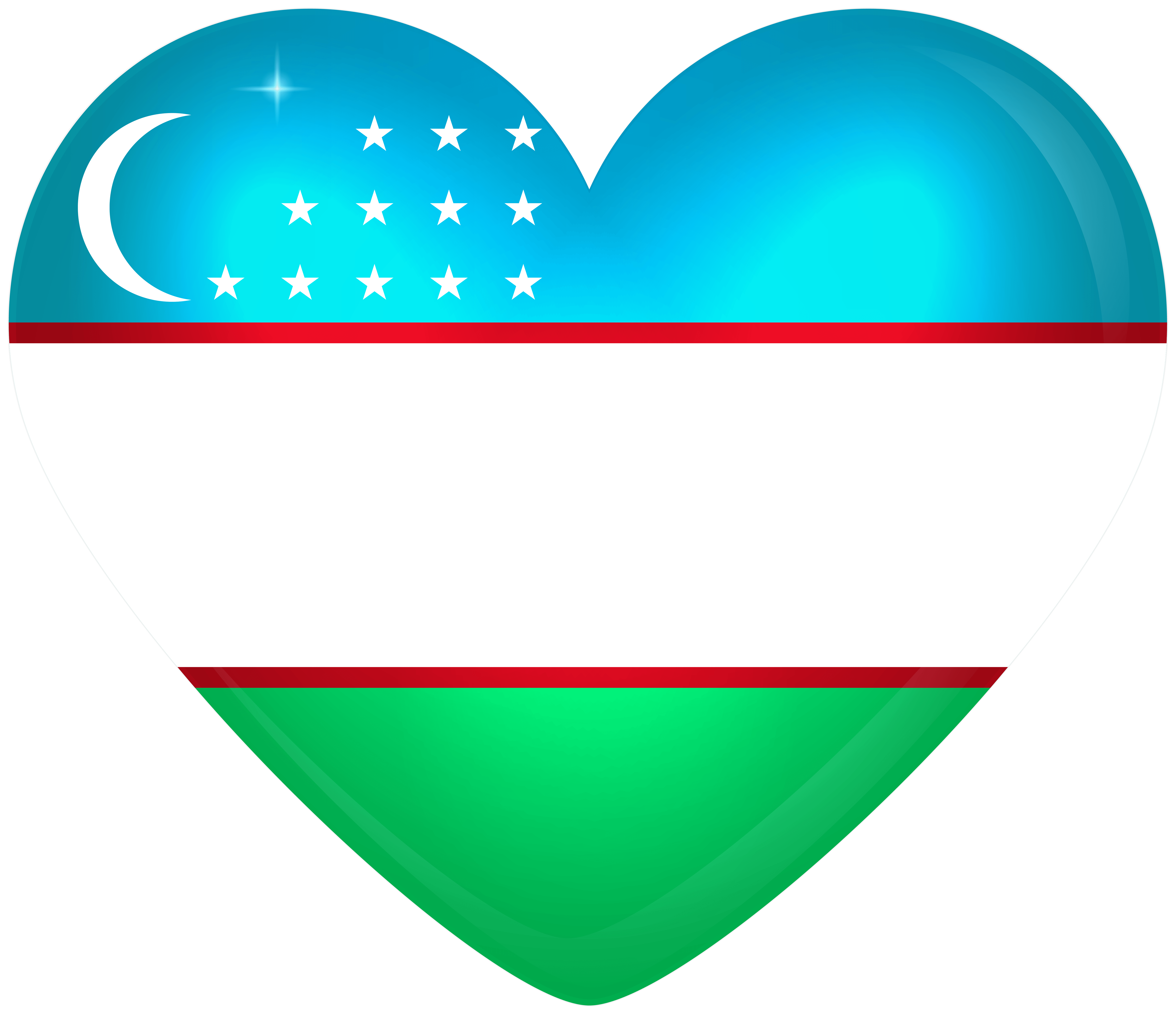 Uzbekistan Large Heart Flag | Gallery Yopriceville - High-Quality ...