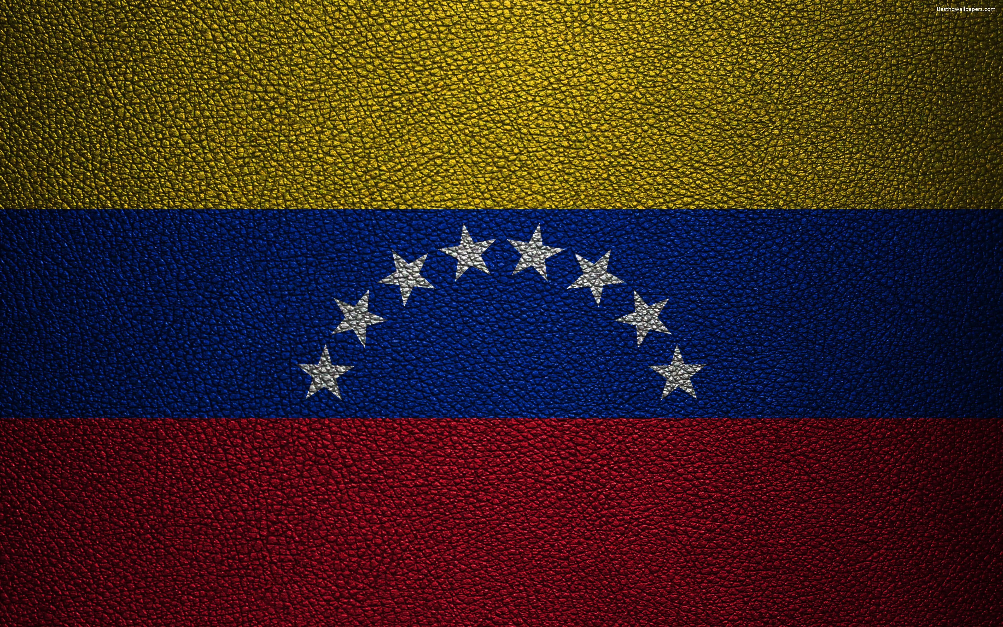 Download wallpapers Flag of Venezuela, 4k, leather texture ...
