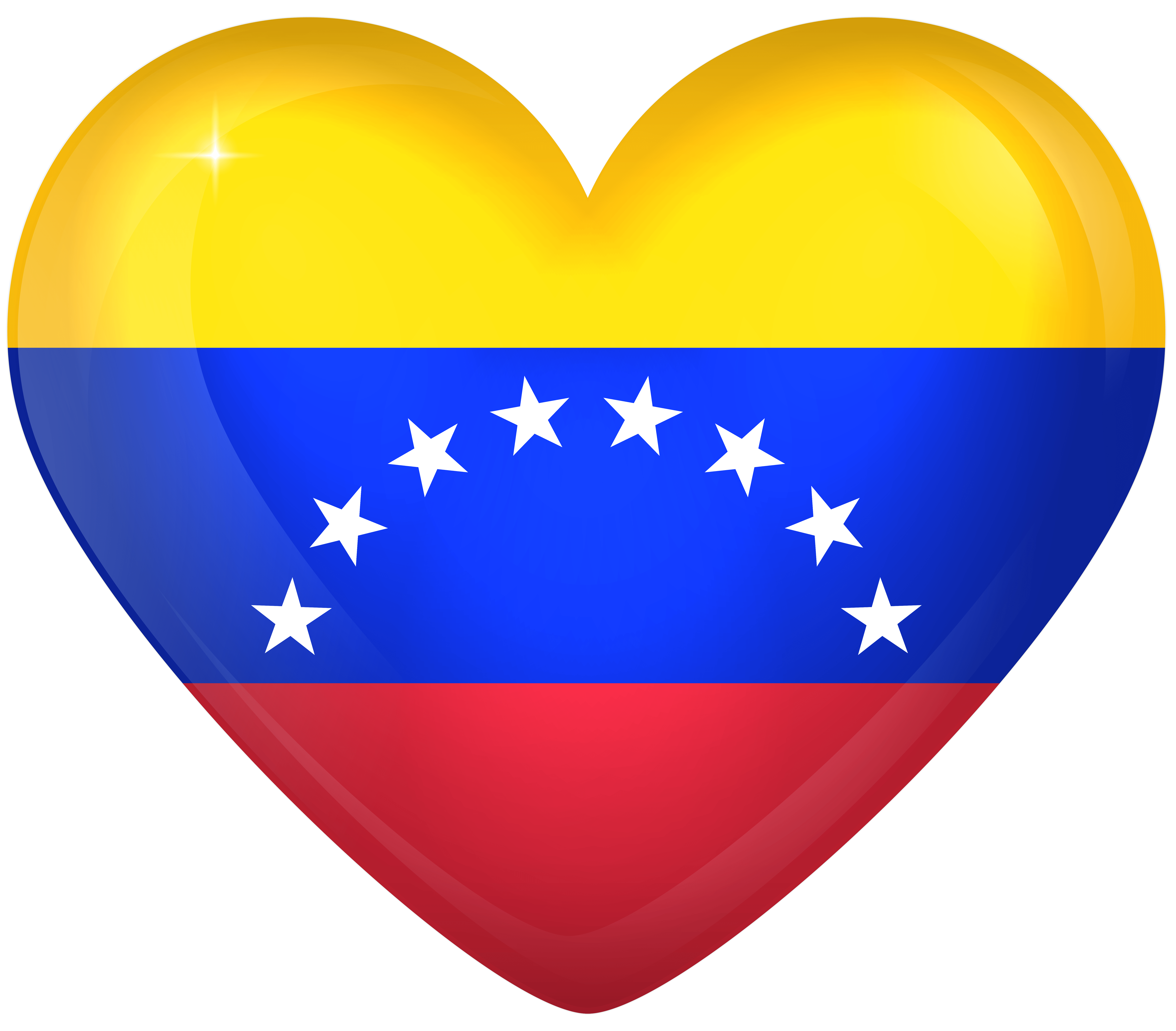 Venezuela Large Heart Flag | Gallery Yopriceville - High-Quality ...