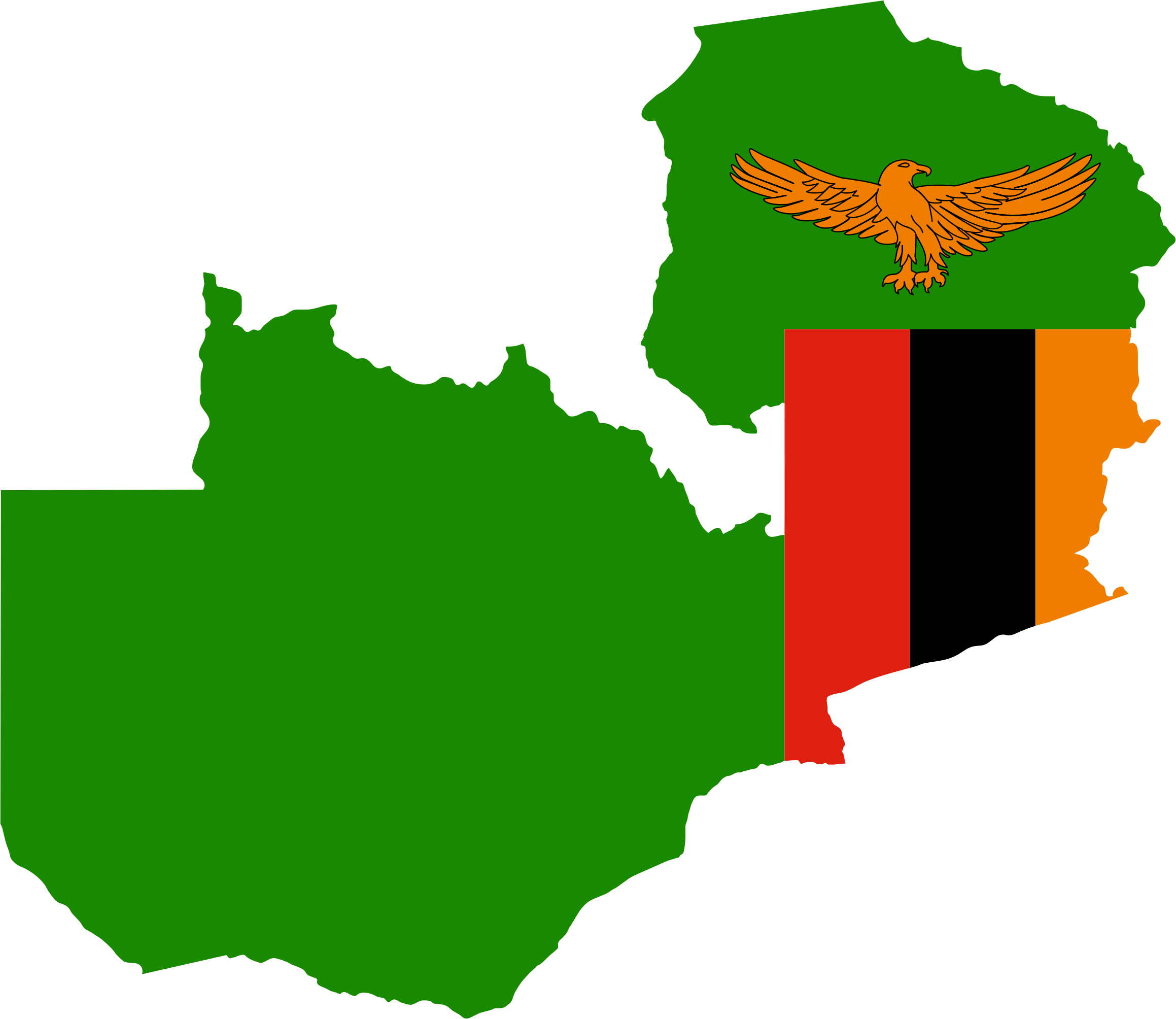 Zambia flag png 4 » PNG Image