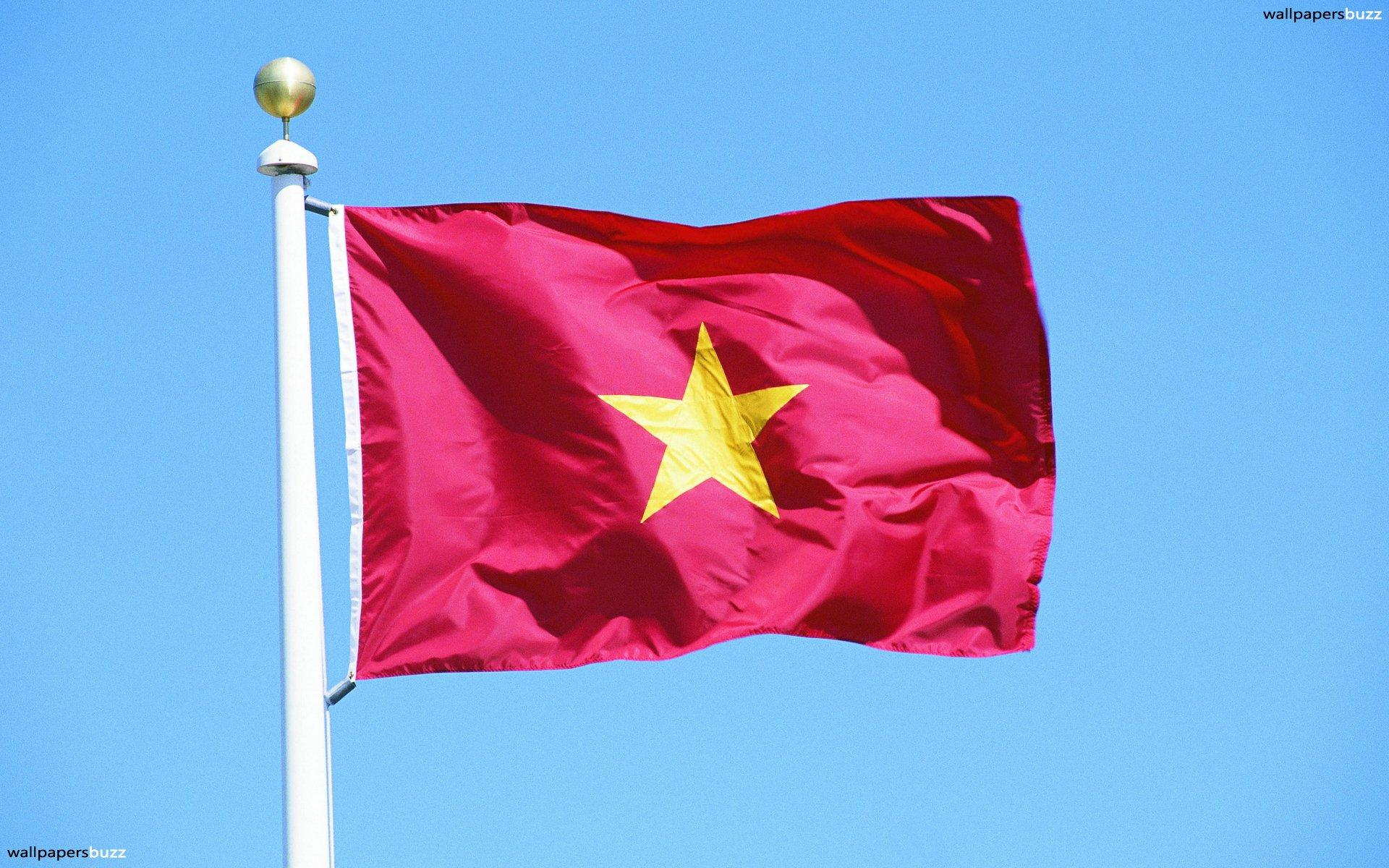 The flag of Vietnam HD Wallpaper