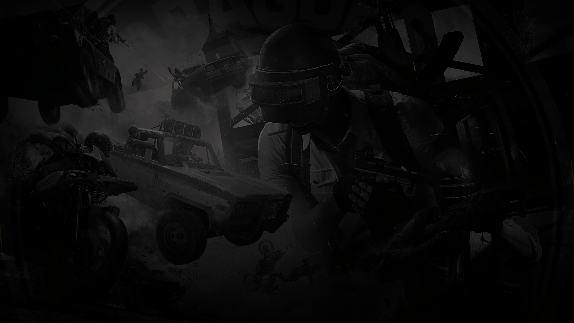 Gaming Black And White Wallpaper 1920x1080