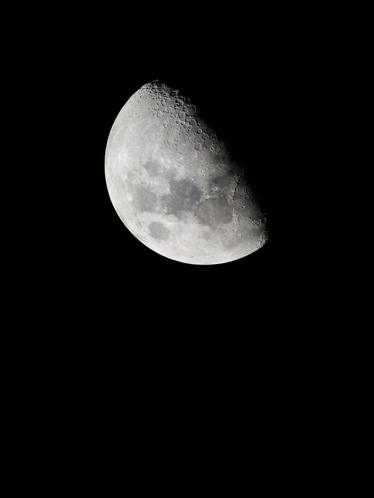 Gibbous Moon Wallpaper | Edited ISS038 image of the gibbous … | Flickr
