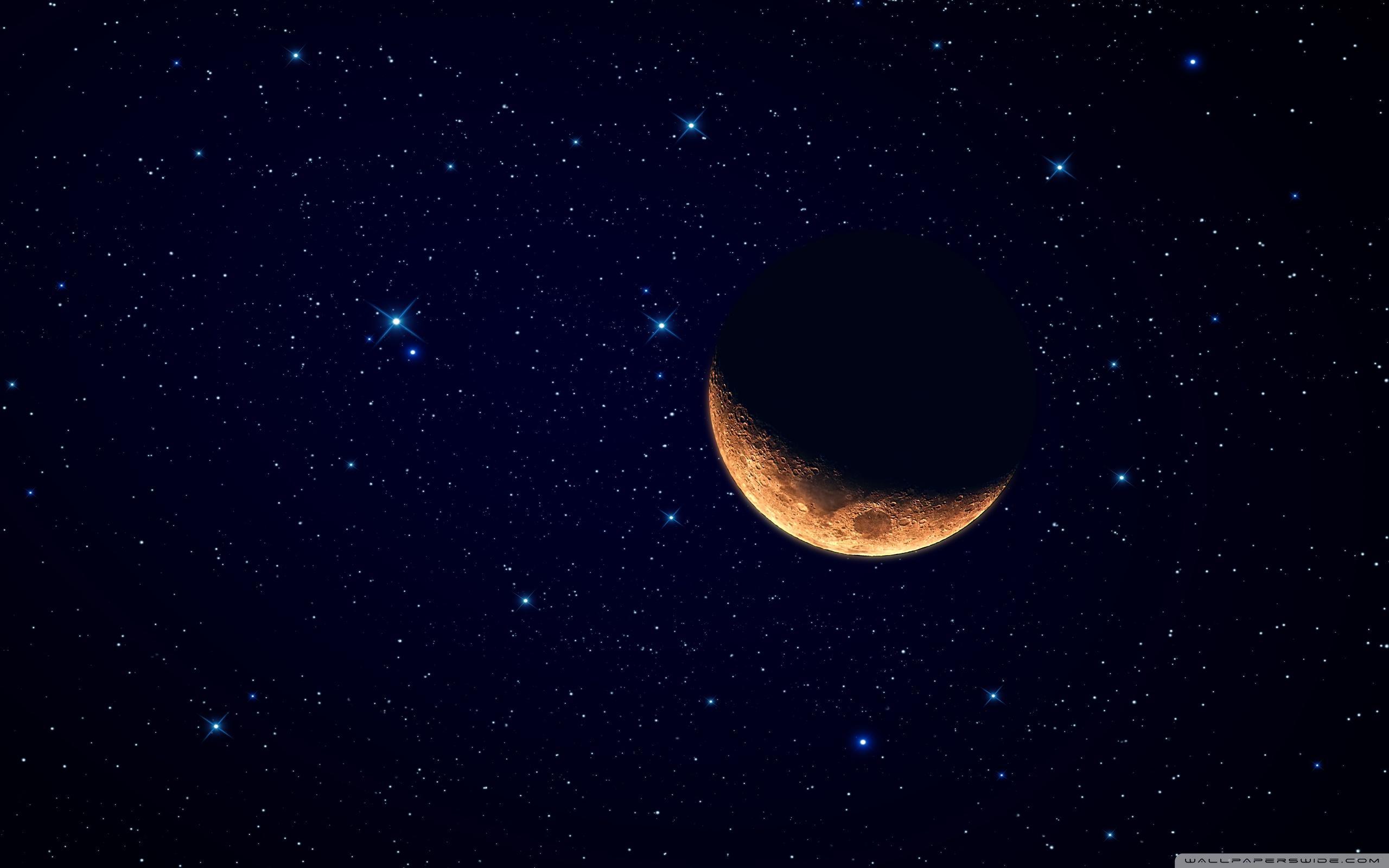 Moon Waning Crescent ❤ 4K HD Desktop Wallpaper for 4K Ultra HD TV .