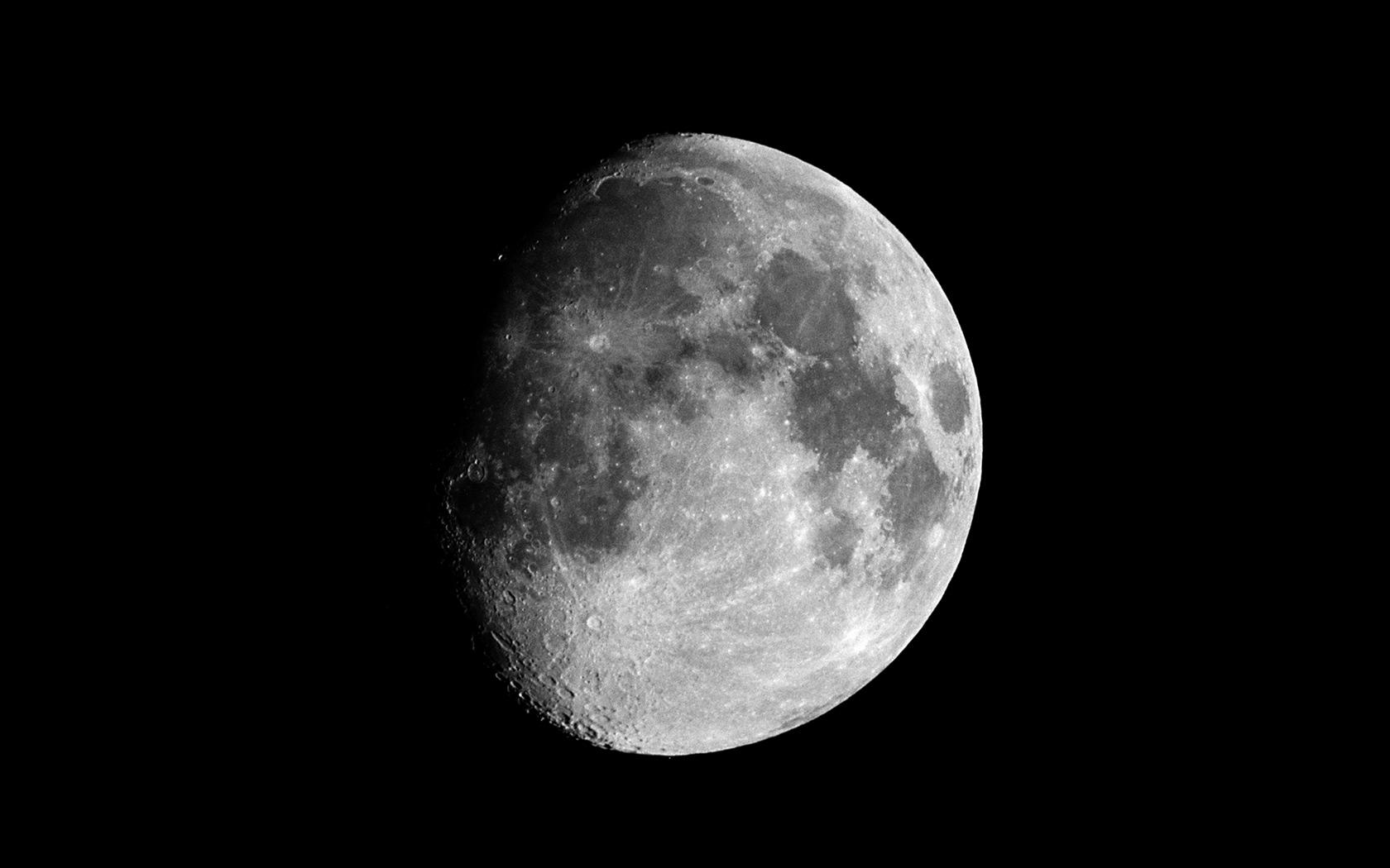 Waxing Gibbous Moon - Natural Phenomenon Wallpaper
