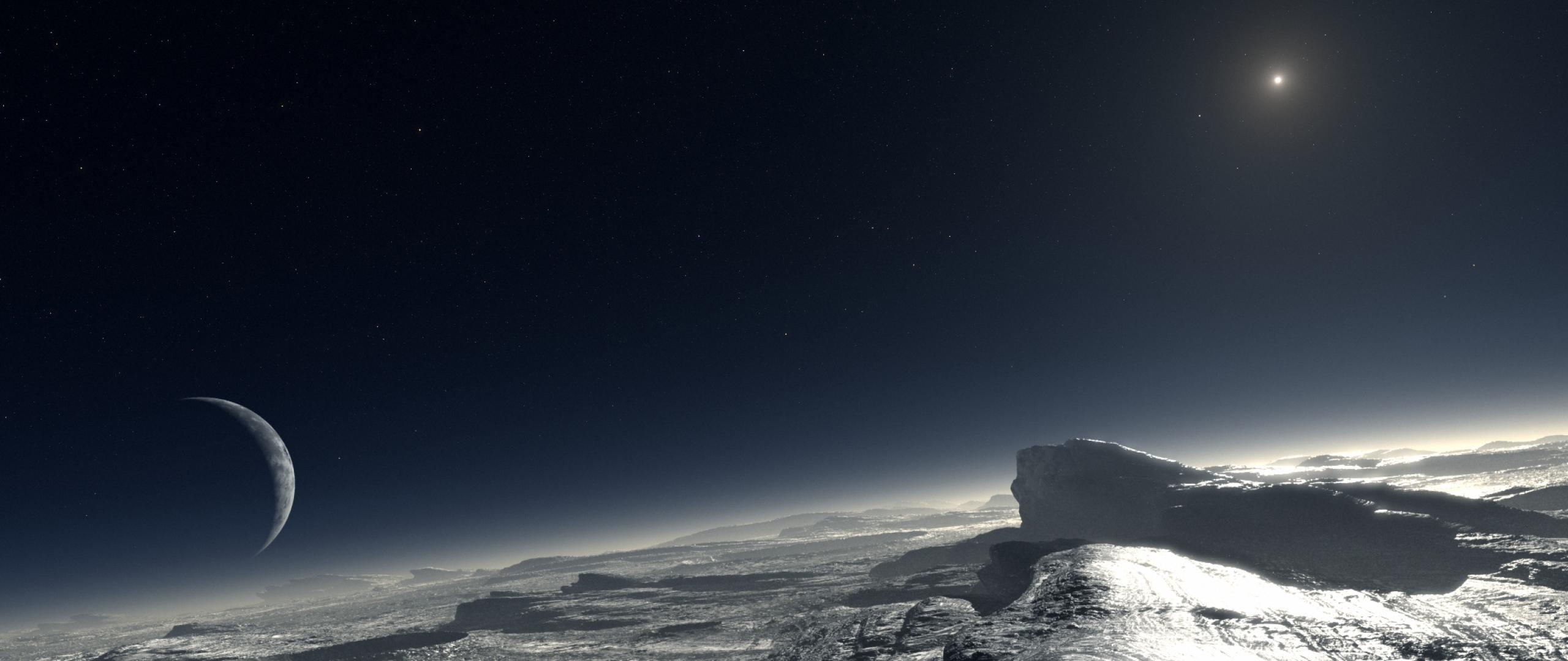 2560x1080px Planet Pluto Wallpapers