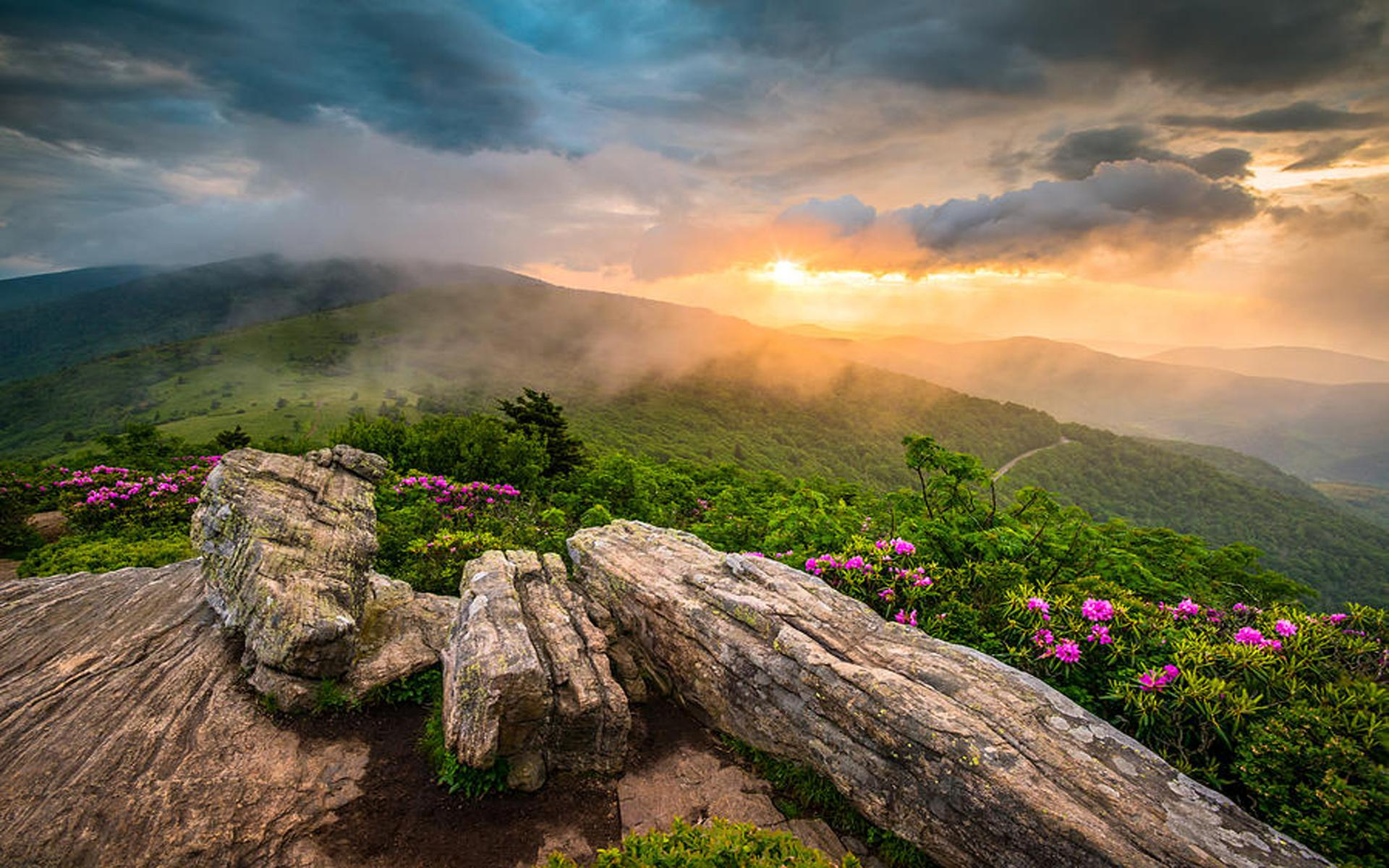 Appalachian Mountains Tennessee Sunset Landscape Photography Desktop ...