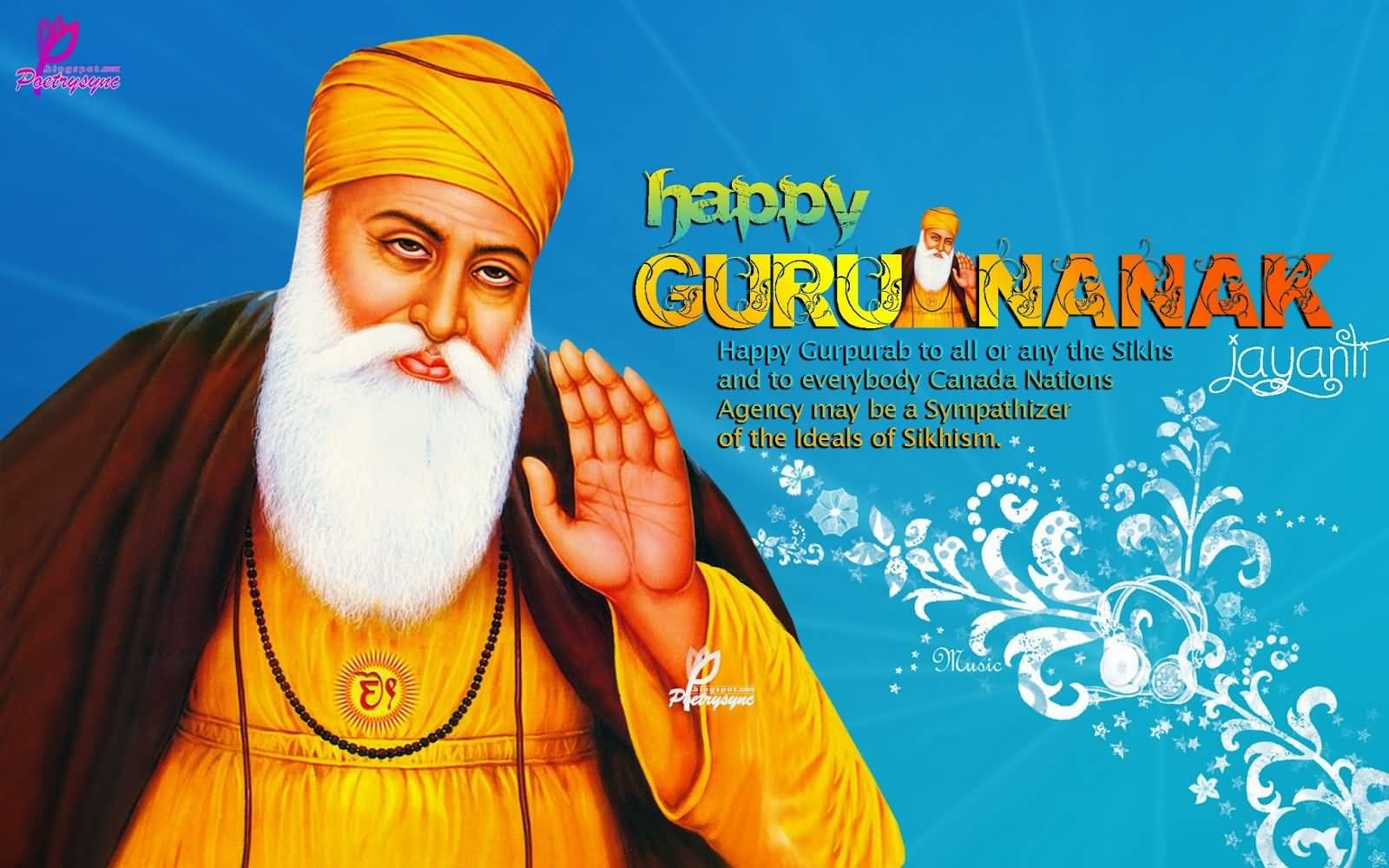 Happy Guru Nanak Jayanti Wishes Wallpaper