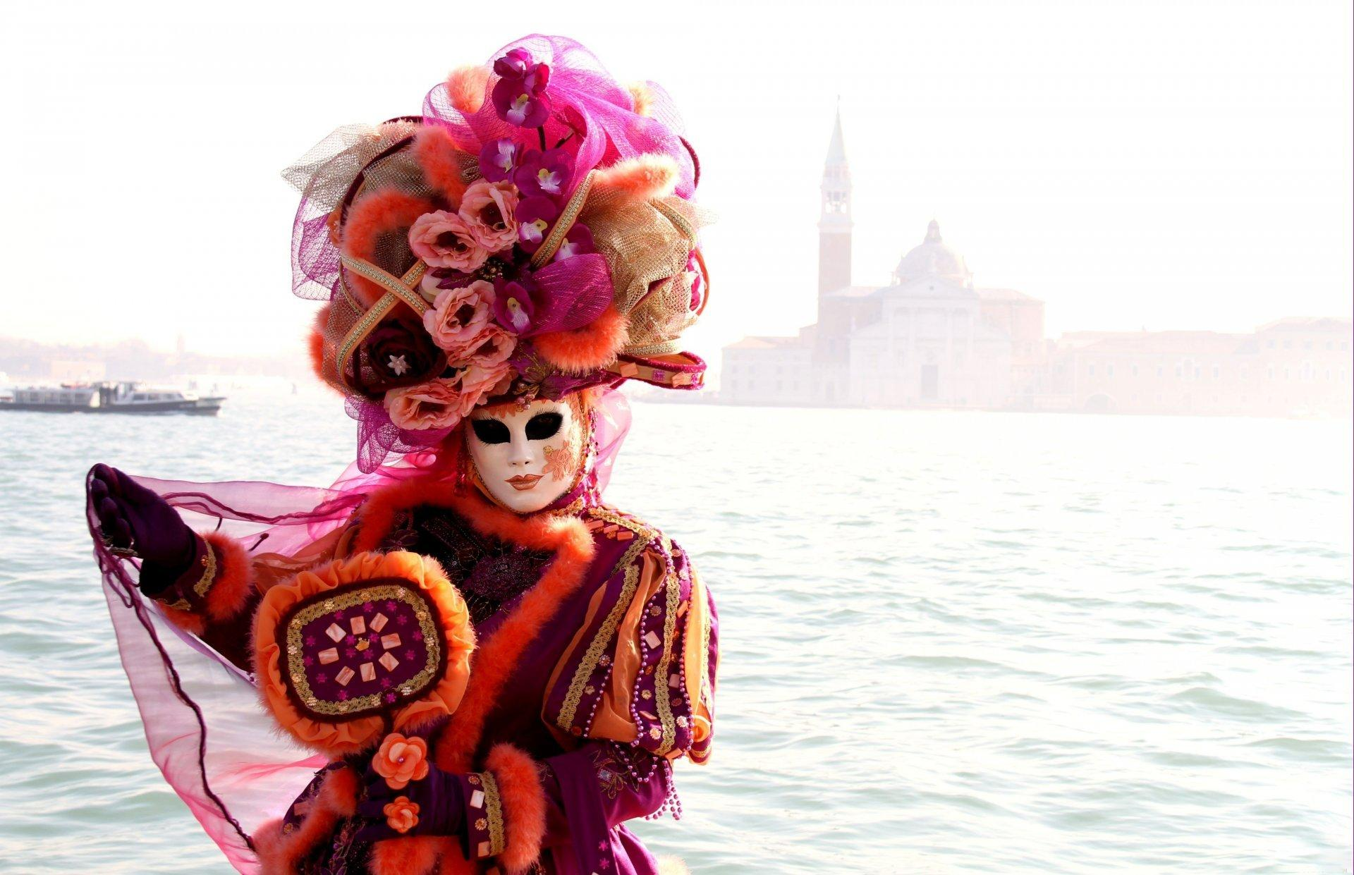 venice mask dress carnival HD wallpapers